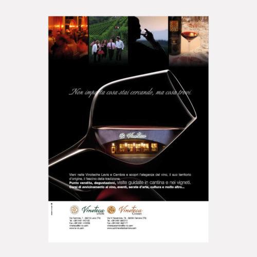 cantina Lavis, progetto per annuncio pubblicitario, diade studio arco