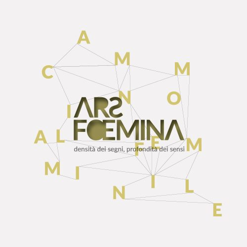 logo in versione positiva, progettato dalla agenzia grafica pubblicitaria Diadestudio per la manifestazione di arte Ars Foemina