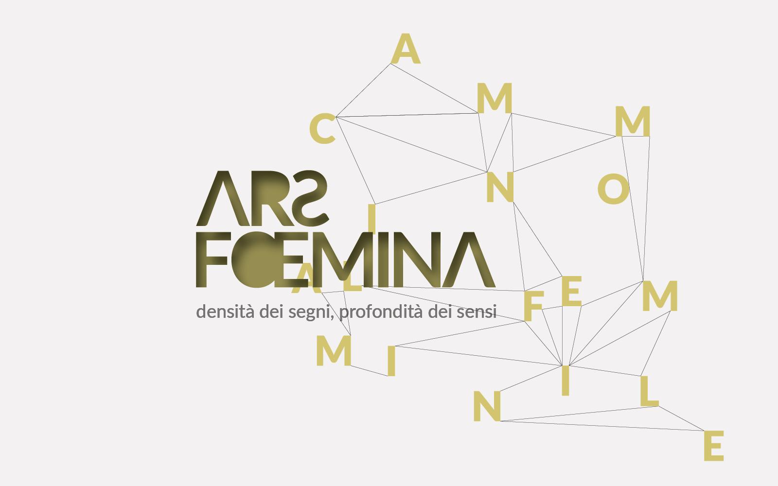 logo progettato dallo studio di grafica pubblicitaria Diade Studio per la manifestazione di arte Ars Foemina