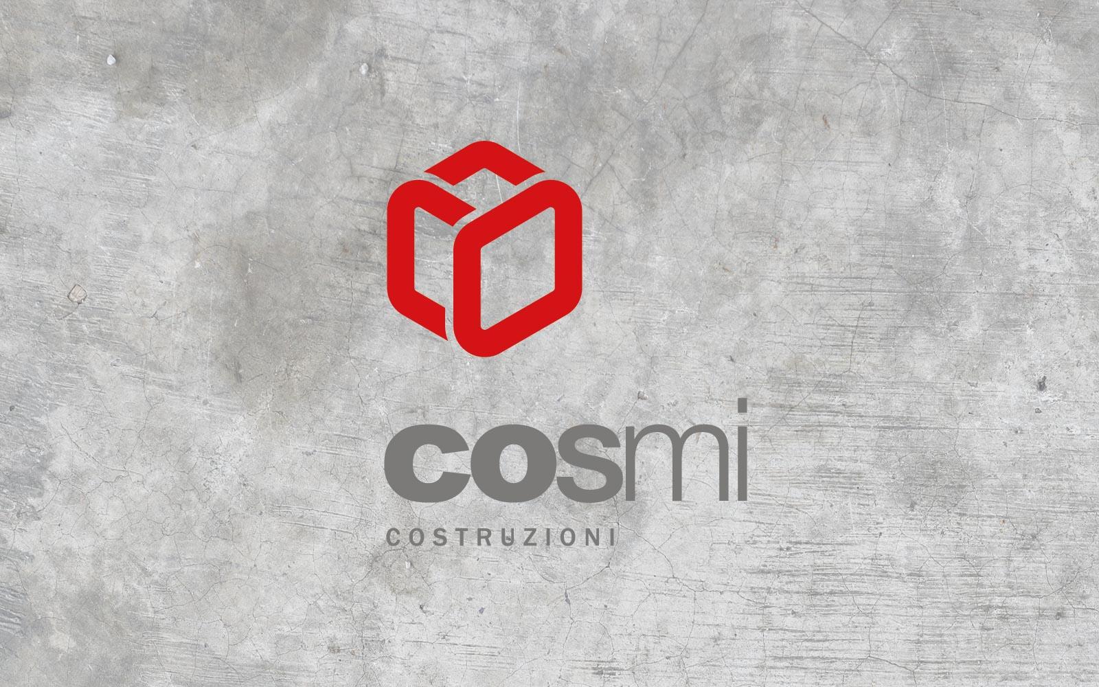progetto del logo per impresa costruzioni cosmi, realizzato da diadestudio agenzia di comunicazione arco di trento