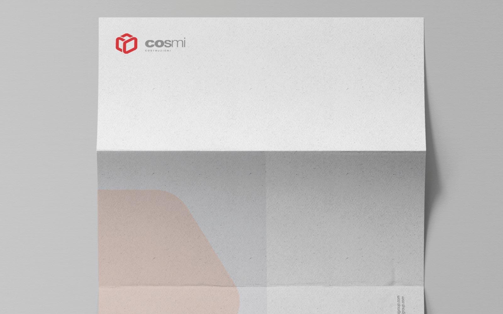 progetto modulistica aziendale e logo per impresa costruzioni cosmi, realizzato da diadestudio agenzia di comunicazione arco di trento