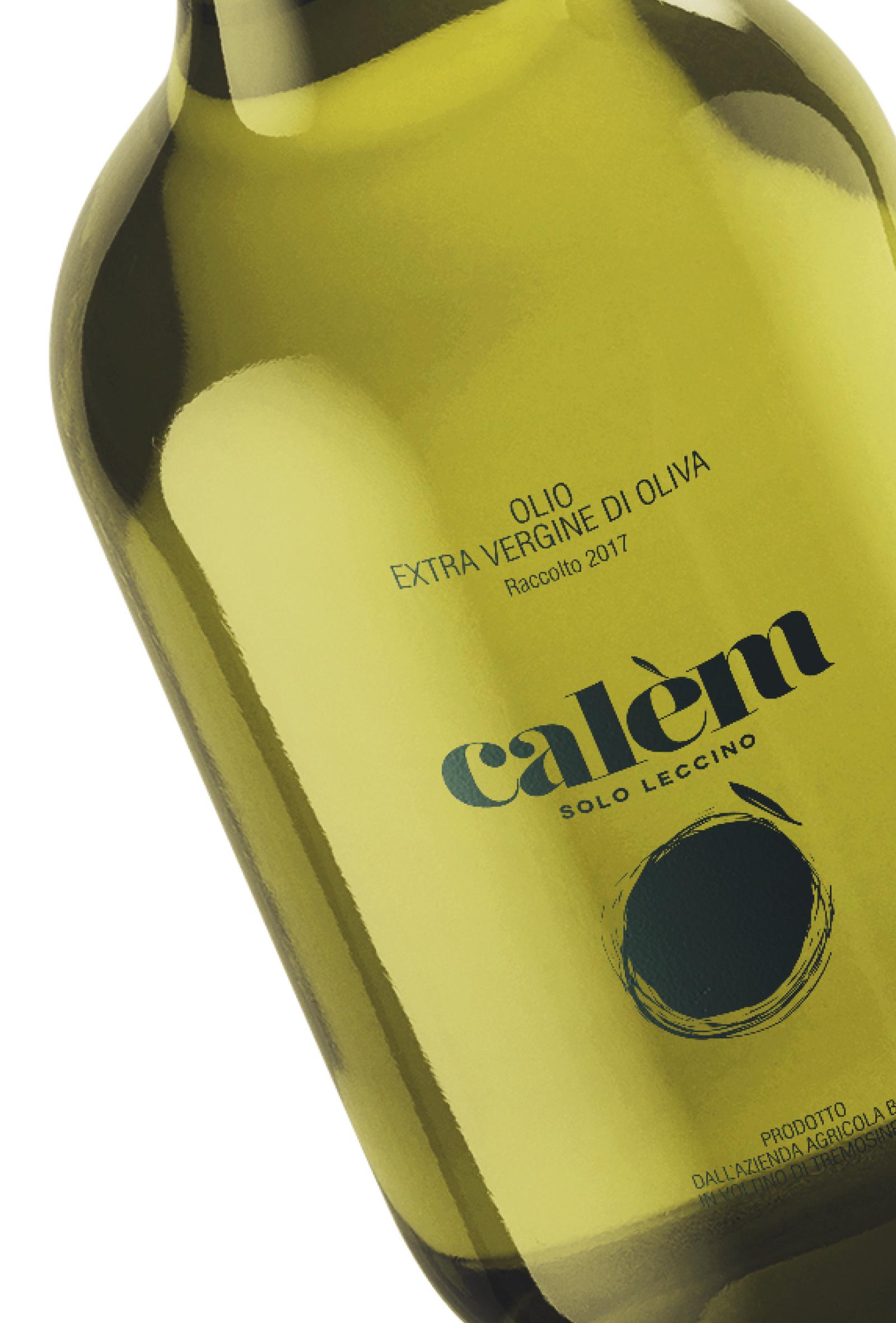 progetto per etichetta bottiglia olio calem, progetto grafico diade studio agenzia di comunicazione arco trento
