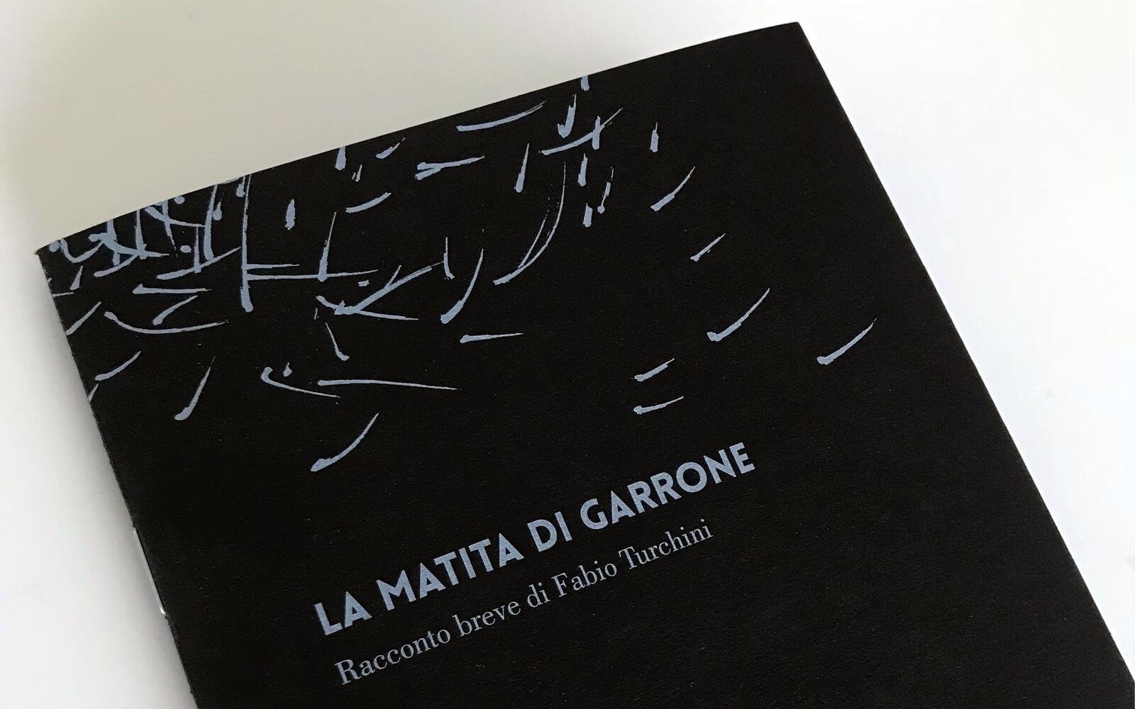 La Matita di garrone, dettaglio di copertina della brochure illustrata dallo studio grafico Diade di Arco Tn