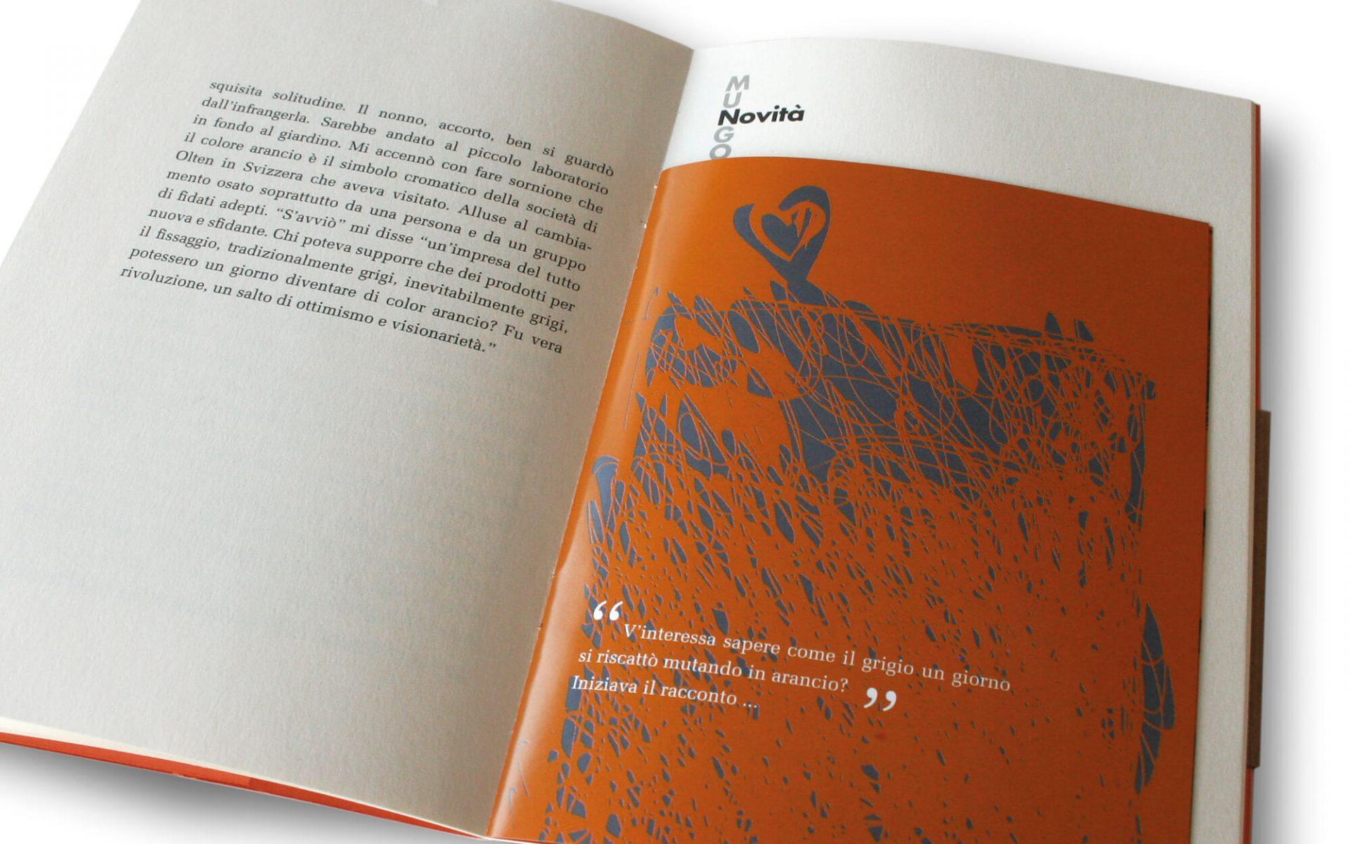 illustrazione per libretto -quel piccolo cosmo- dettaglio pagine interne. Storytelling di Fabio Turchini e illustrazioni da Laura Marcolini per Diadestudio, Trento.