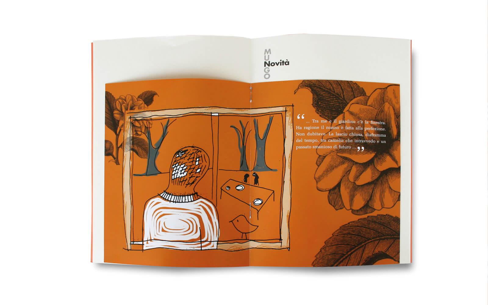 dettaglio pagine interne della pubblicazione illustrata da Laura Marcolini per Mungo Italia, progetto studio diade trento