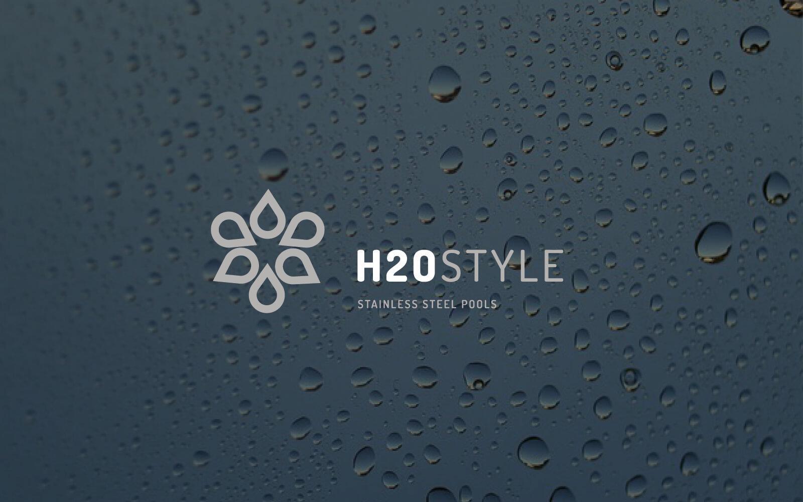 progetto del marchio h2o style, progettato dallo studio grafico diade arco di trento