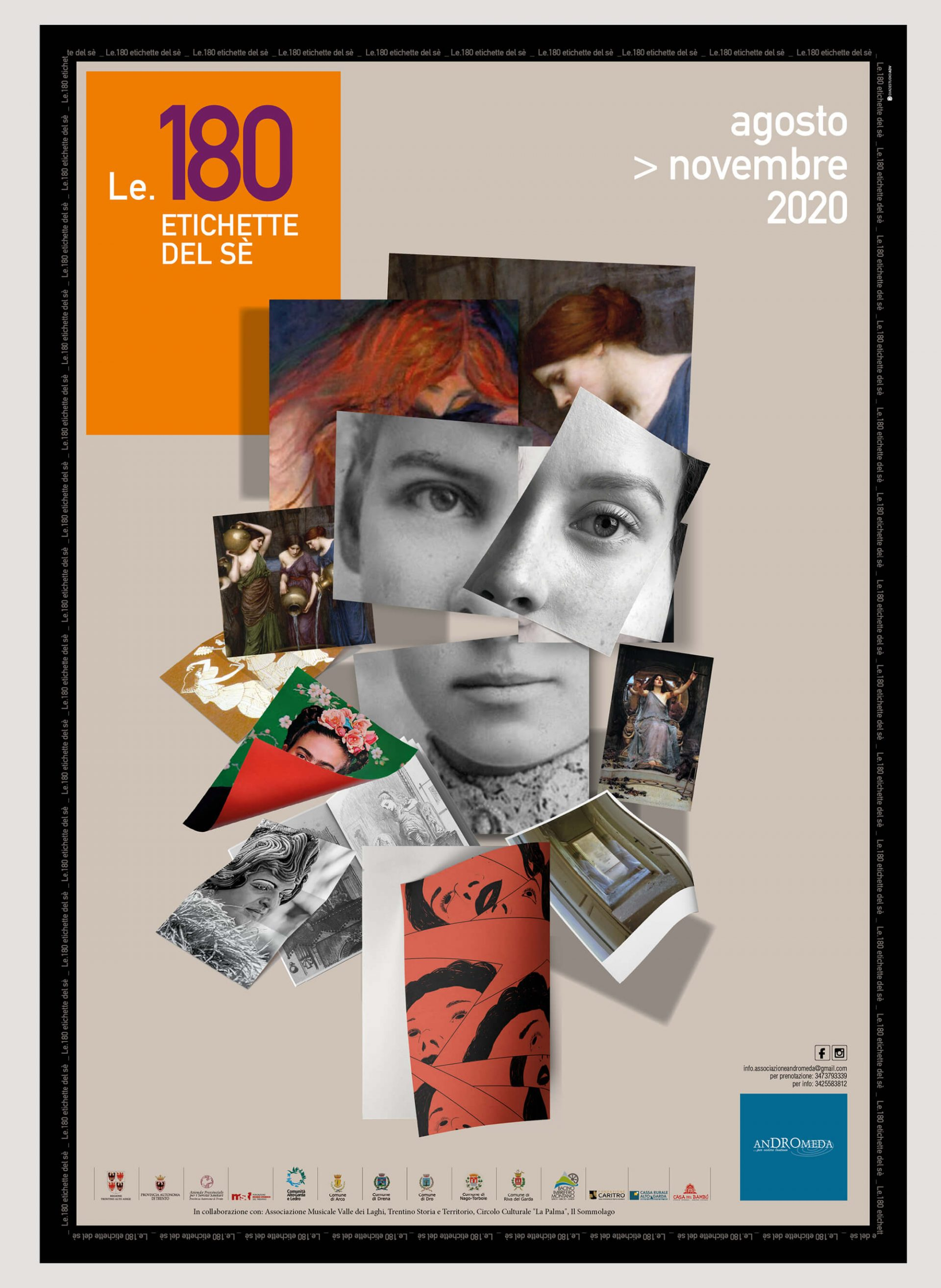poster progettato per la rassegna Le 180 Etichette del Se di Andromeda, parte dell'immagine coordinata ideata dallo studio di comunicazione diade studio Arco Tn
