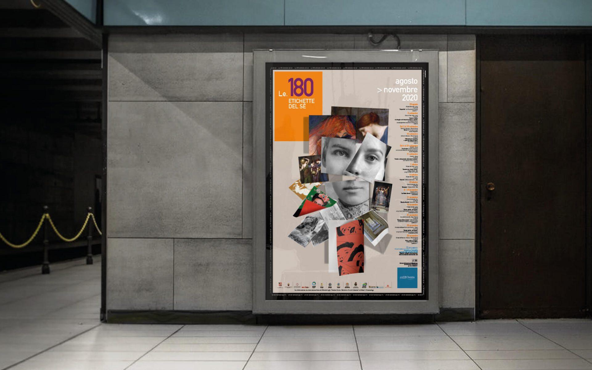 dettaglio del poster progettato per la rassegna Le 180 Etichette del Se di Andromeda, progetto grafico coordinato dallo studio grafico diadestudio di Arco Tn