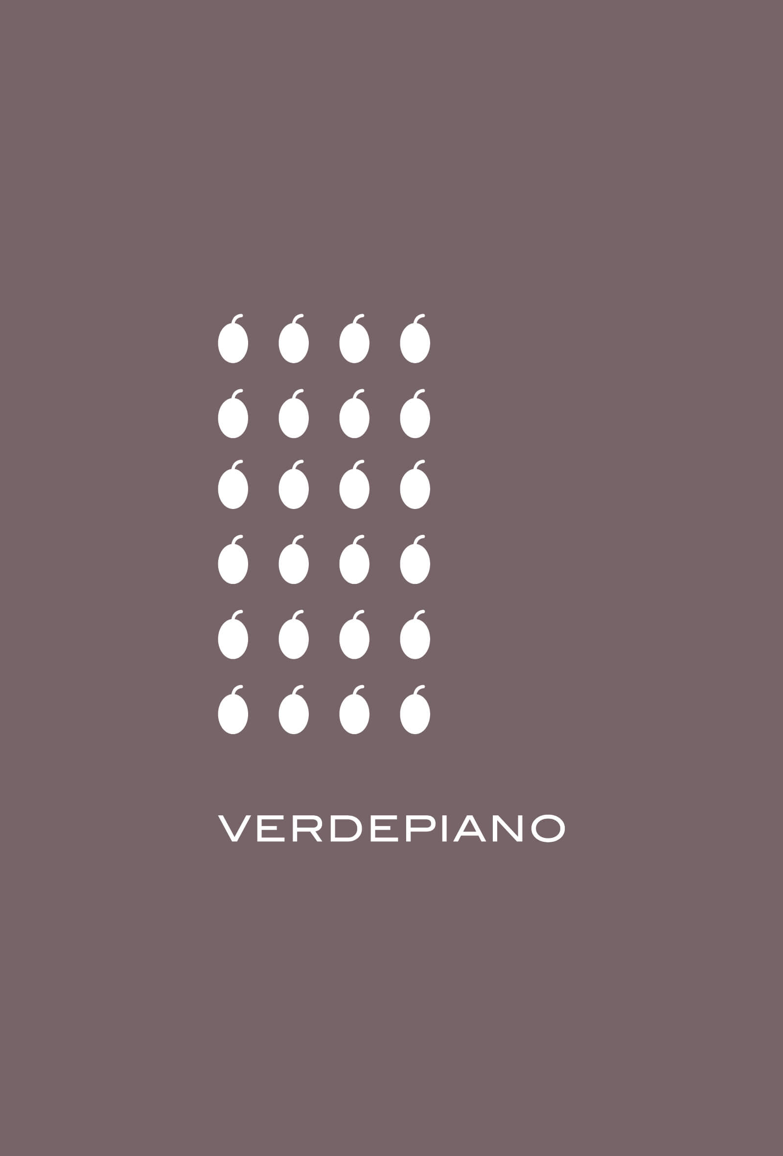 progetto per il logo e per etichetta olio Verdepiano, dello studio di progettazione grafica Diade di Arco Tn