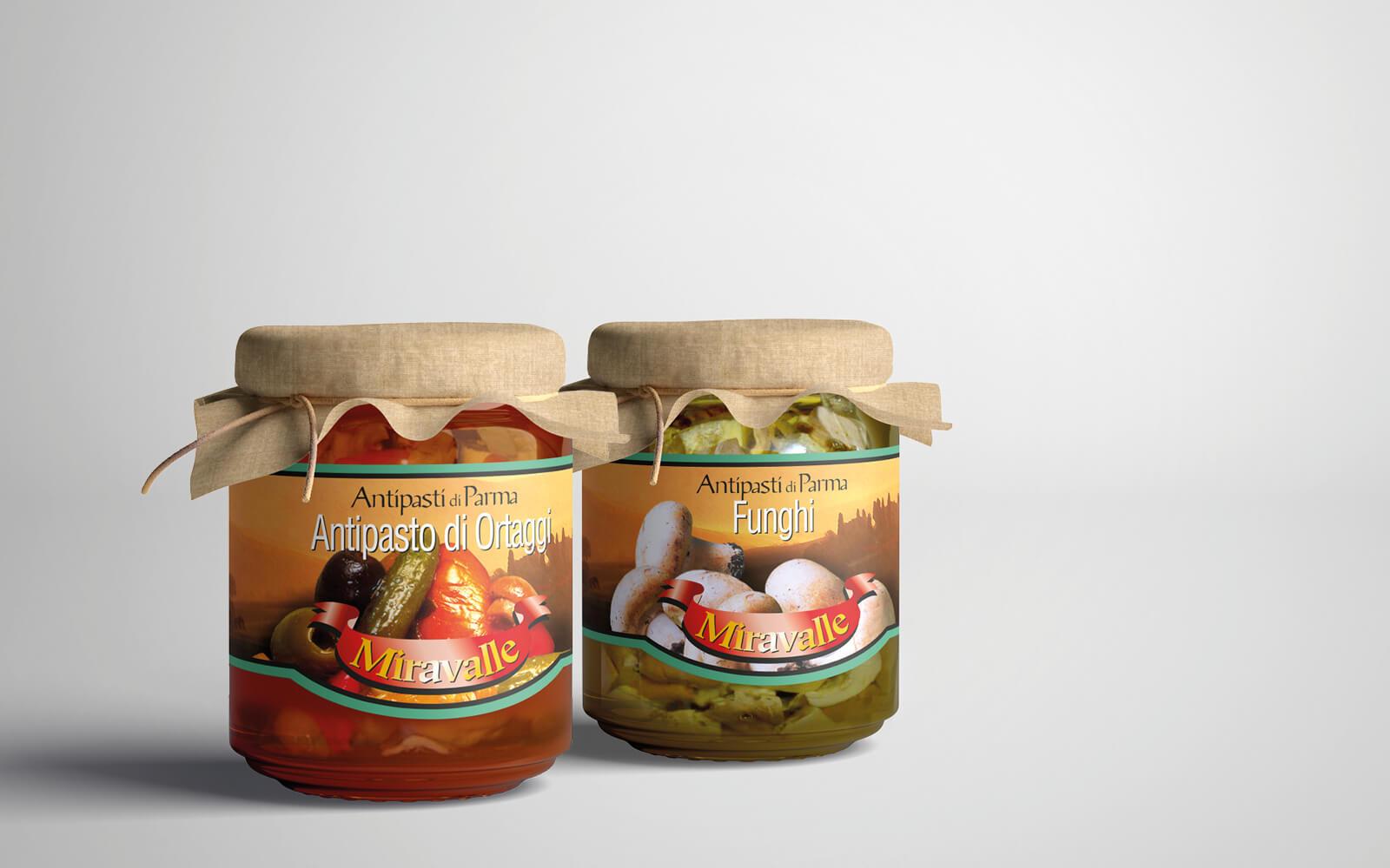 linea etichette alimentari per barattoli progettata da diadestudio arco di trento per provinco Italia