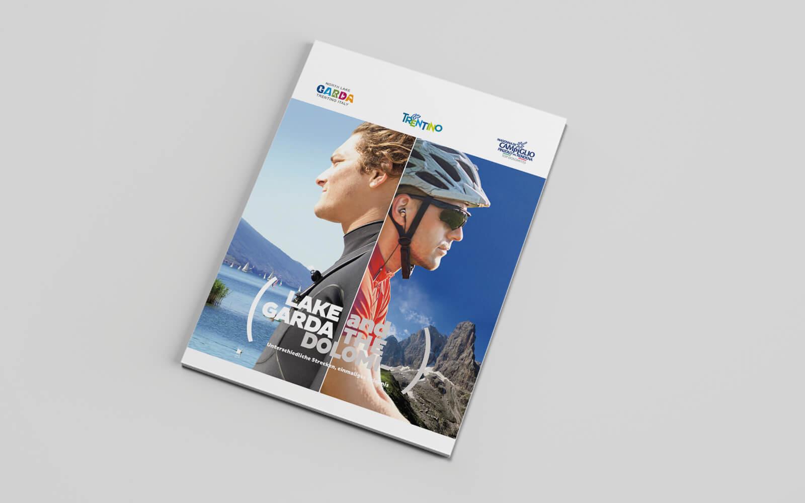copertina catalogo turistico madonna di campiglio - Garda Trentino, progettata da diadestudio agenzia di pubblicità arco trento