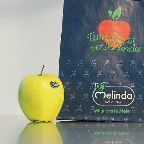 sacchetto alimentare progettao per Mondomelinda dalla agenzia di comunicazione Diade Studio Arco Trento