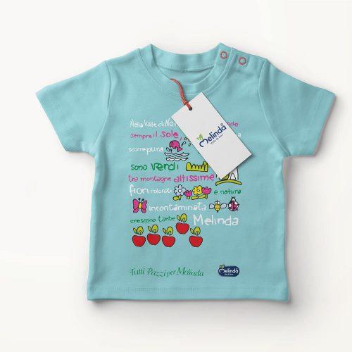 illustrazione per maglietta bambino creata per Mondomelinda dallo studio grafico Diade Studio Arco Trento