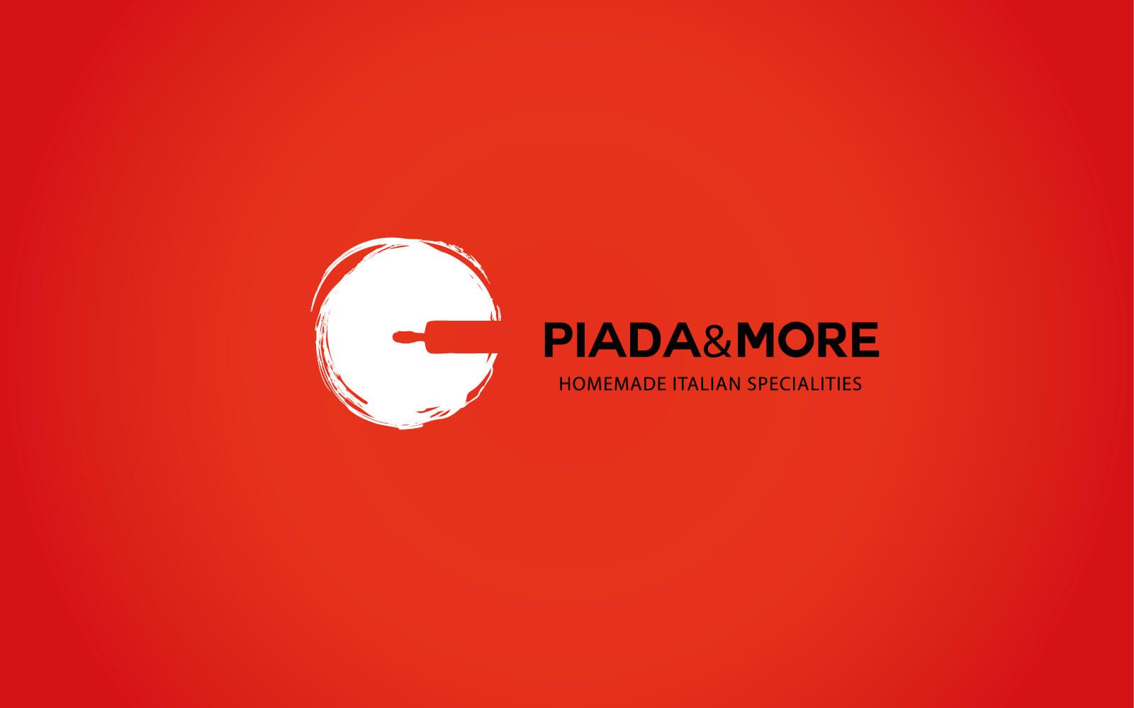 progetto del marchio per ristorante piada and more, creato da diadestudio agenzia grafica arco trento