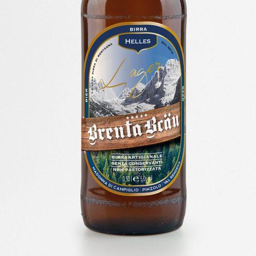 particolare etichetta birra Brenta Brau progettata dallo studio di comunicazione diadestudio arco trento
