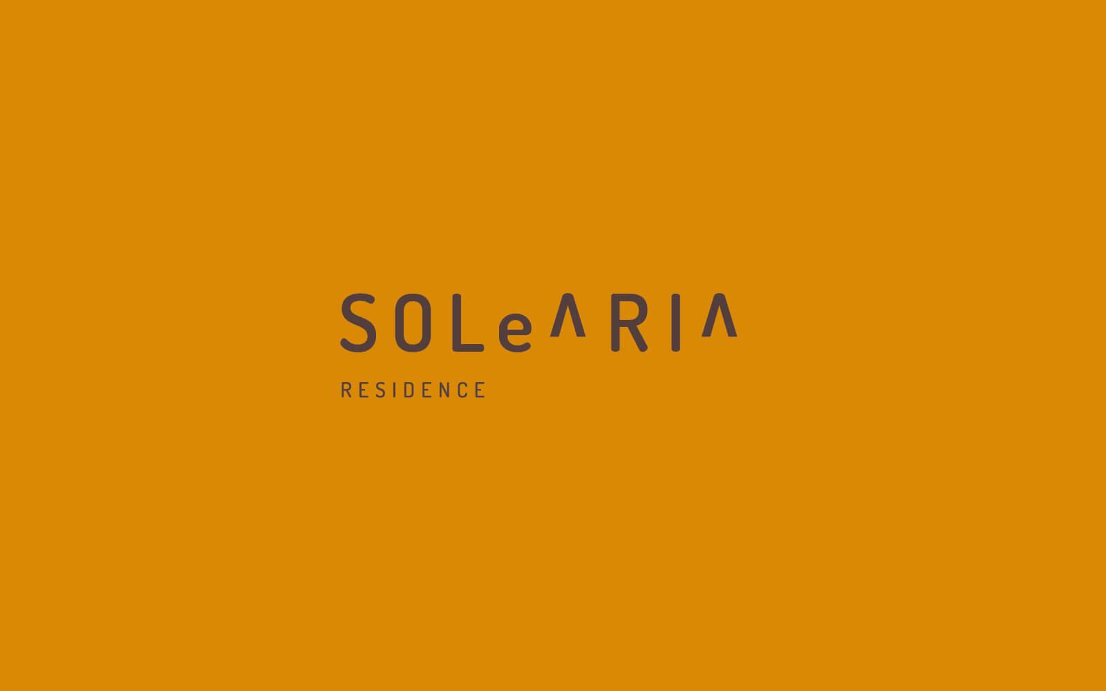 progetto grafico del logo e della immagine coordinata per b&B solearia, creato dallo studio di pubblicità diadestudio arco trento
