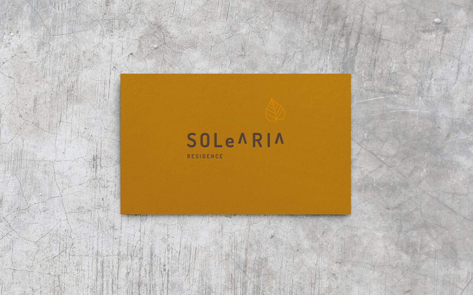 progetto grafico del logo, naming e branding per b&B Solearia, creato dalla agenzia di comunicazione diadestudio arco trento