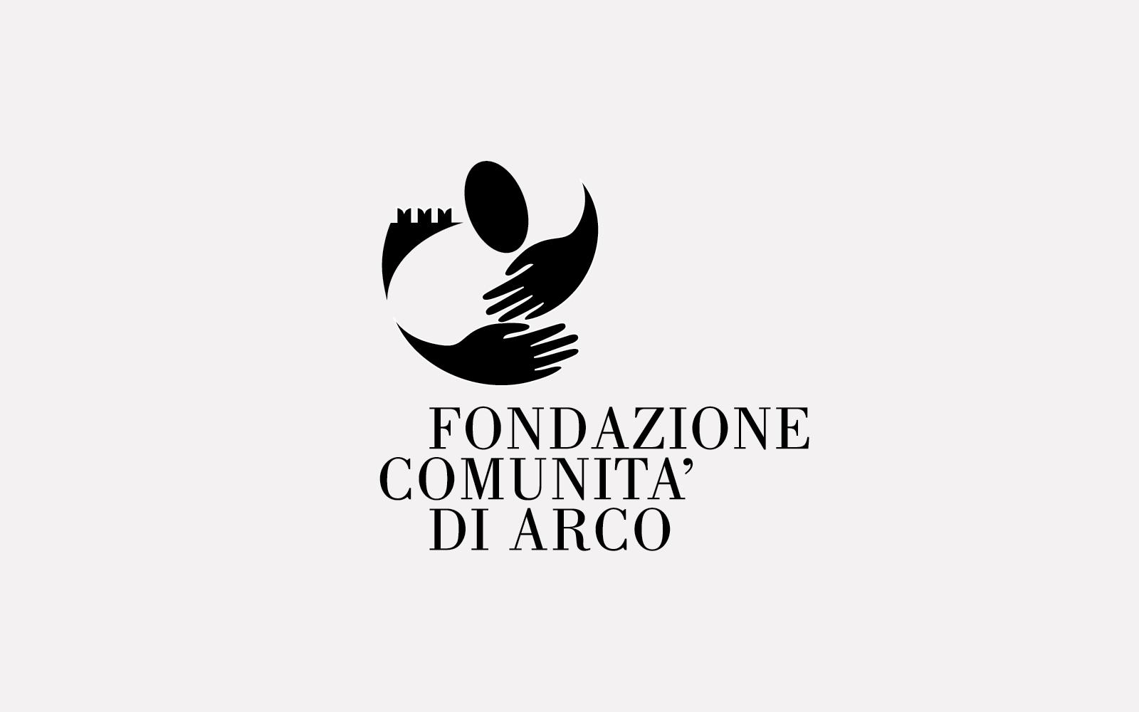 progetto del logo per fondazione comunità di arco, creato da diadestudio agenzia grafica arco trento