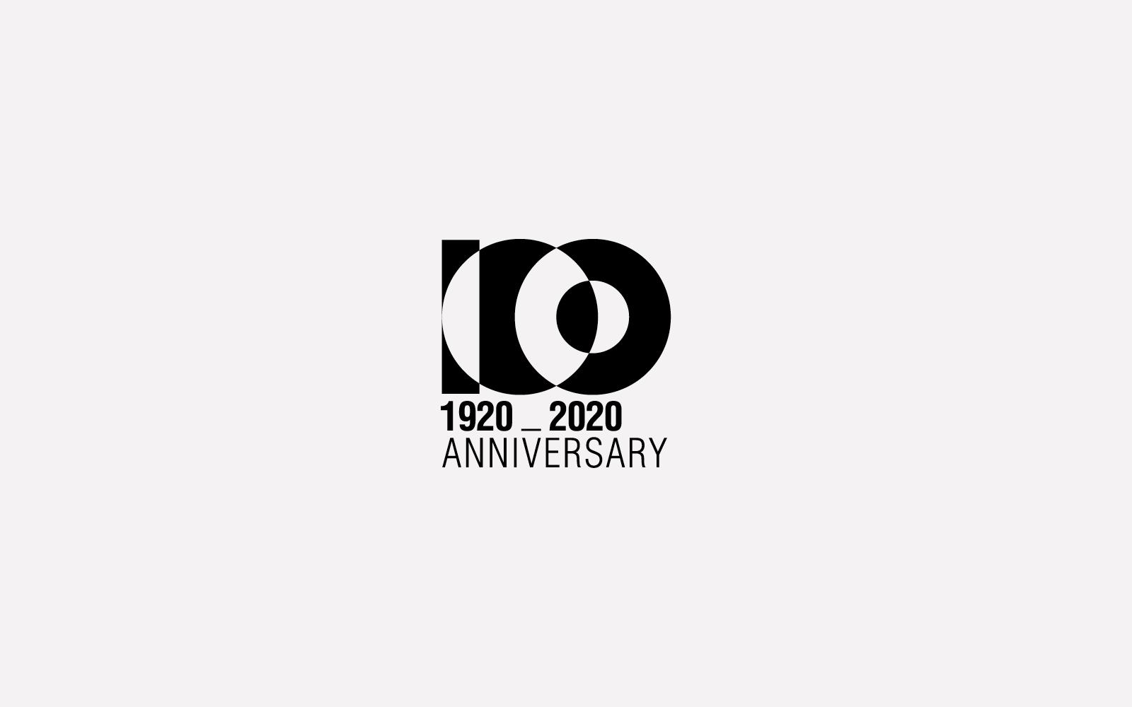 progetto marchio monocolore celebrativo centenario per azienda settore arredamento, creato dallo studio di grafica diade studio arco di trento