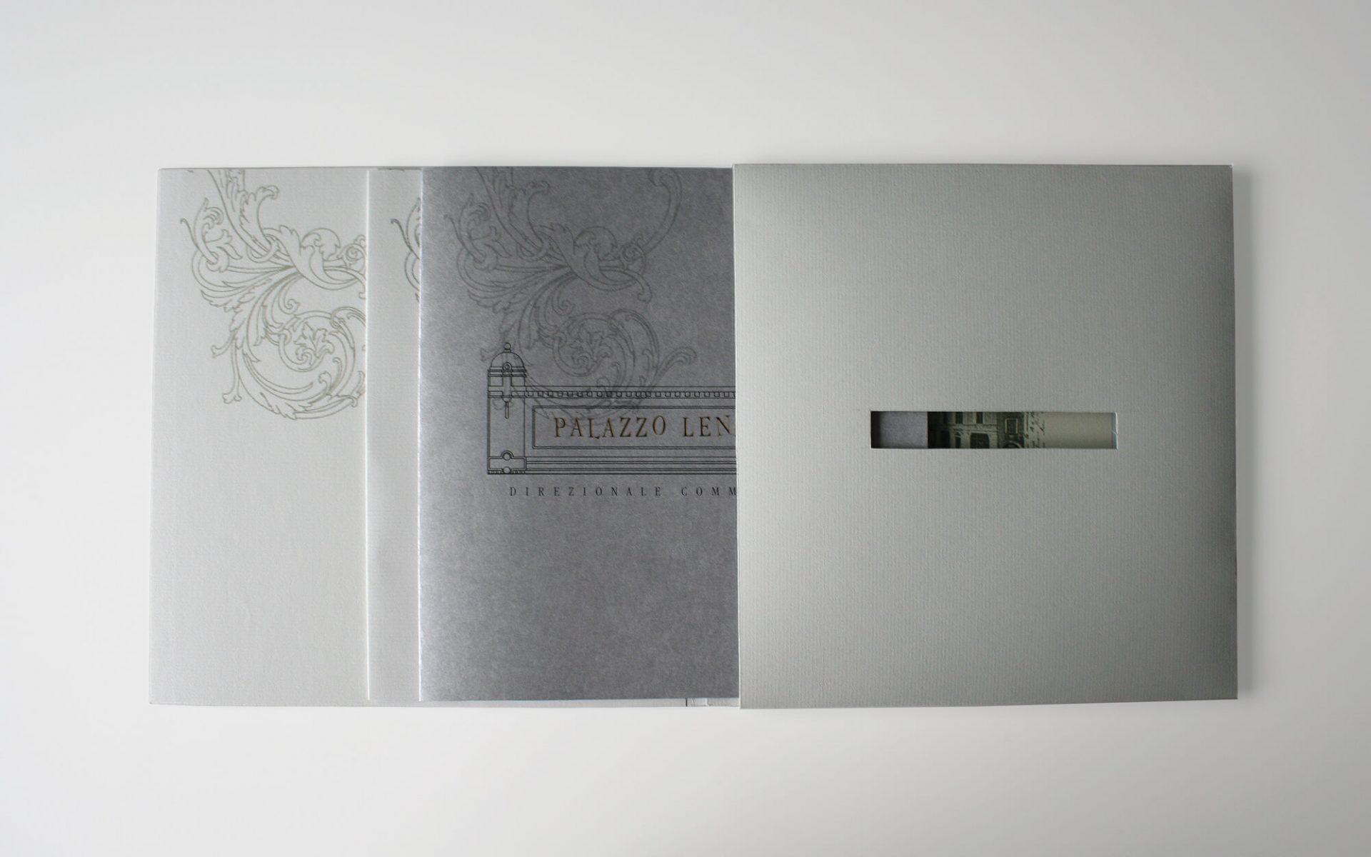 diadestudio agenza di pubblicità, progetto per elegante brochure e cofannetto, vendita immobile di pregio a Rovereto