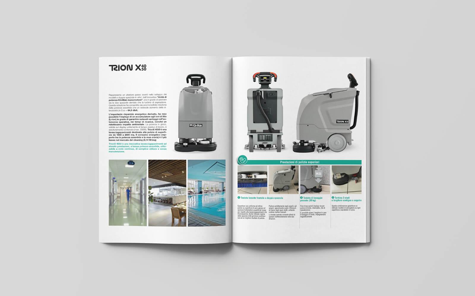 catalogo klin mak, dettaglio pagine interne, progetto studio grafico diade arco di trento