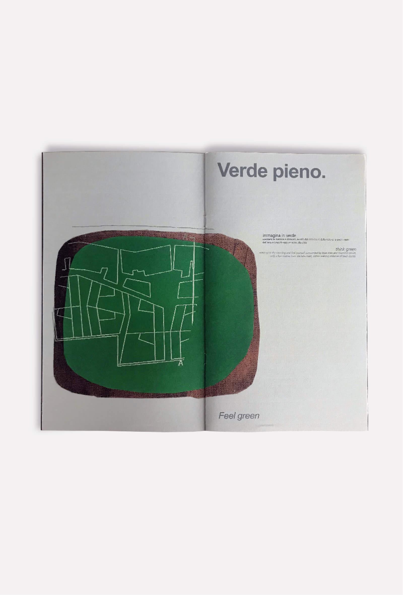 dettaglio pagine interne brochure per progetto architettura, illustrazioni diadestudio arco di trento
