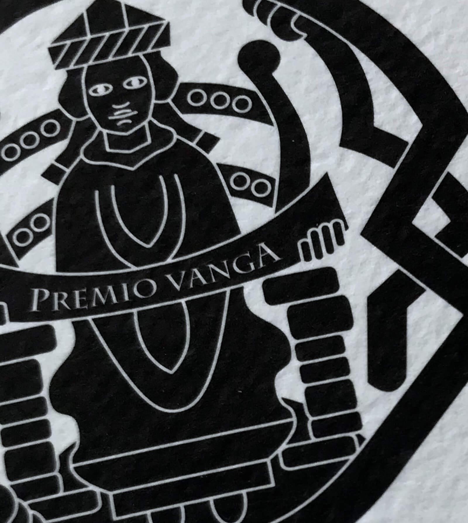 marchio in bianco e nero e dettaglio immagine coordinata creata per l'evento -premio vanga provincia di trento- con il coordinamento immagine grafica diadestudio arco di trento