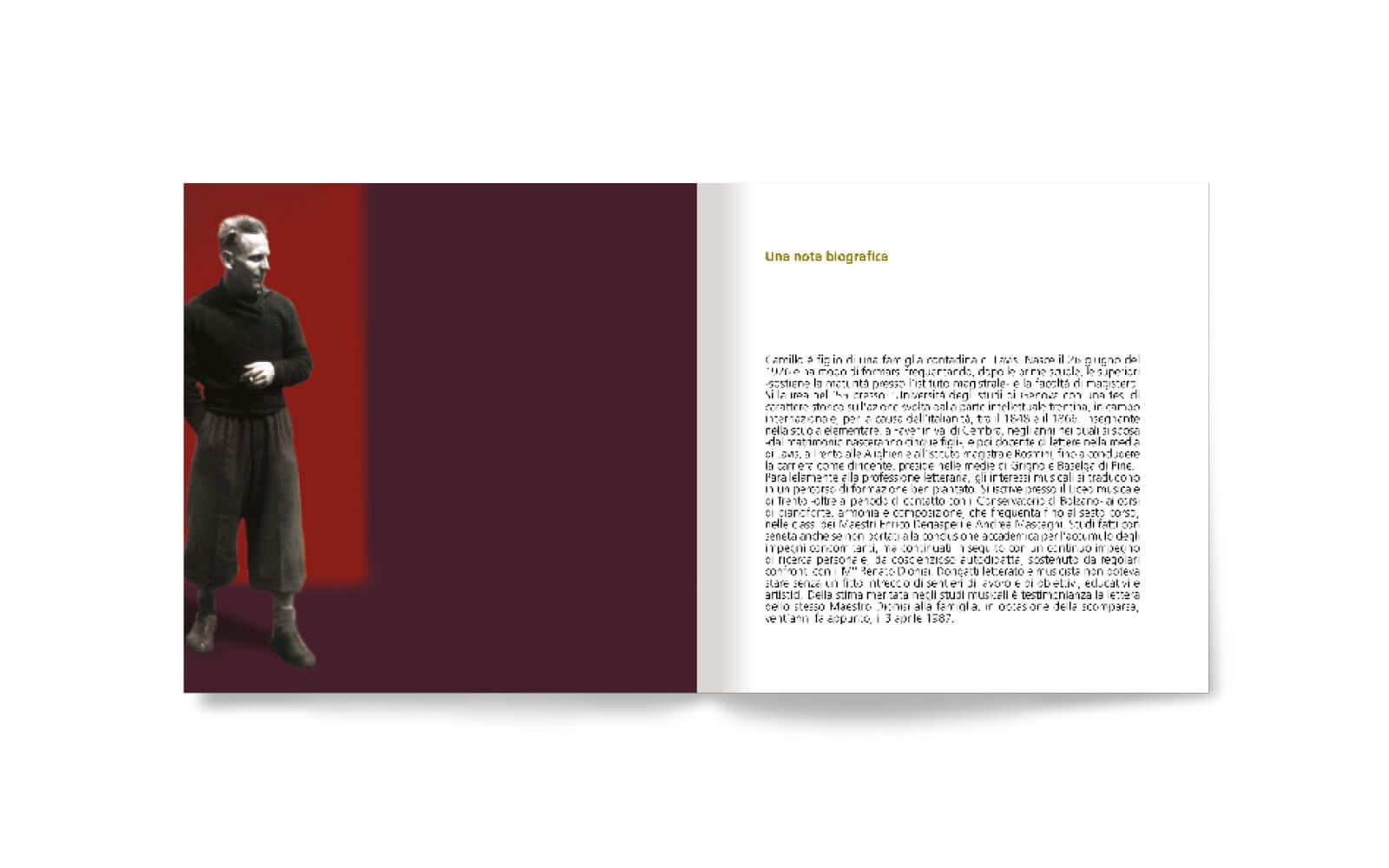 pagine libretto interno per juwel box e cd, progetto grafico diade studio arco trento