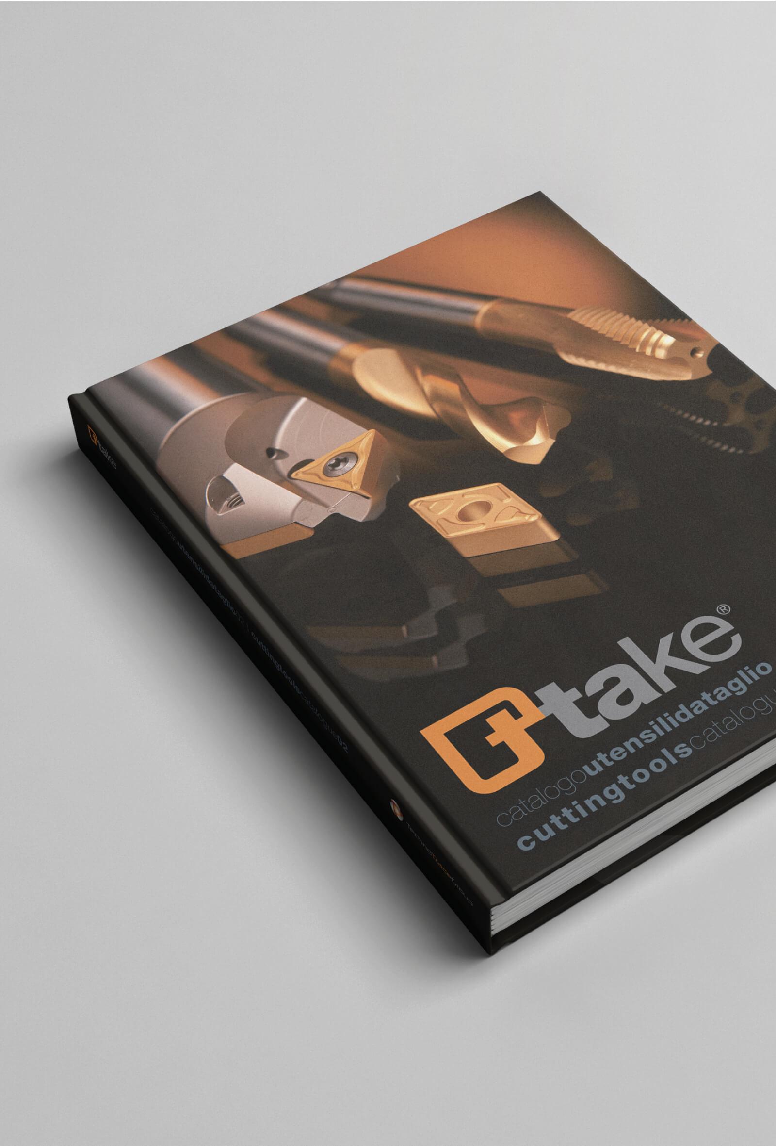 copertina catalogo utensili da taglio ttake, progettata dalla agenzia di comunicazione diadestudio arco di trento