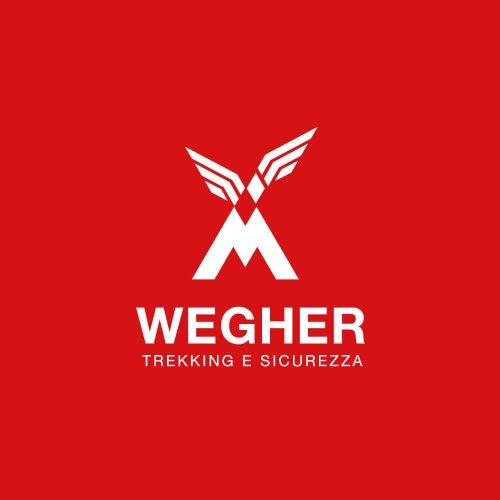 wegher trekking, progetto del logo e branding by diadestudio