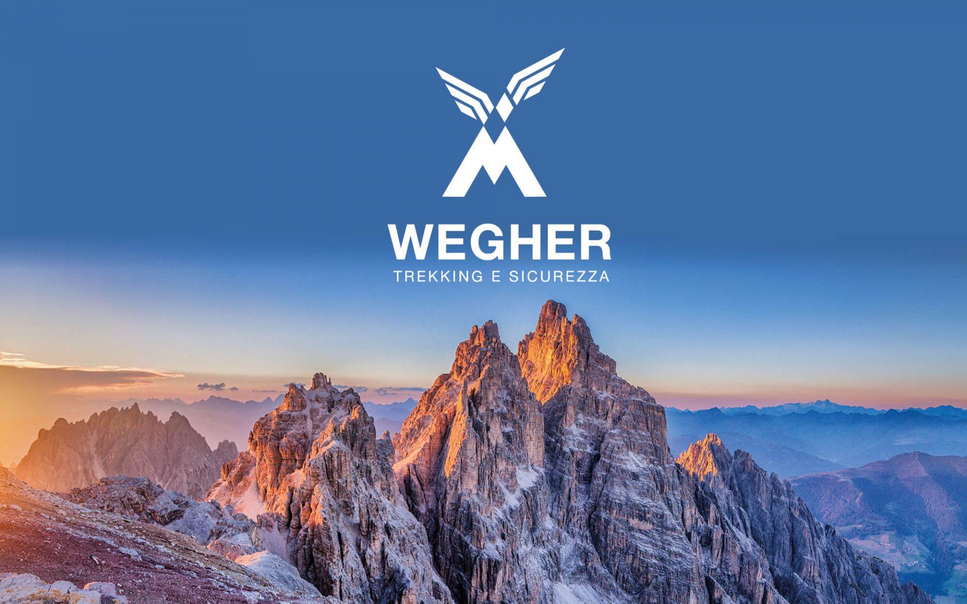 progetto del marchio wegher realizzato dallo studio grafico diadestudio di trento