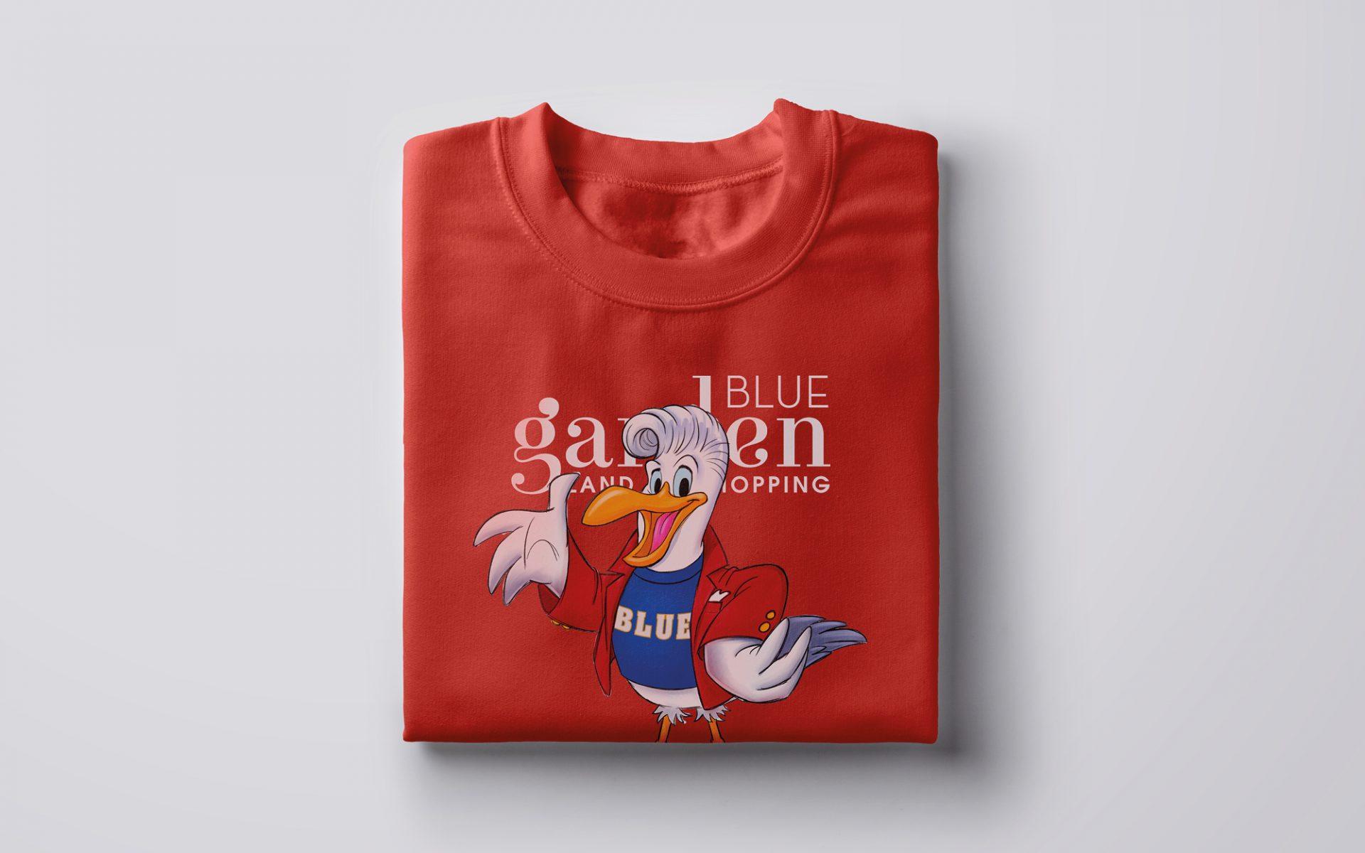 maglietta brandizzata con illustrazione e logo e mascotte aziendale, progetto grafico diade studio arco trento