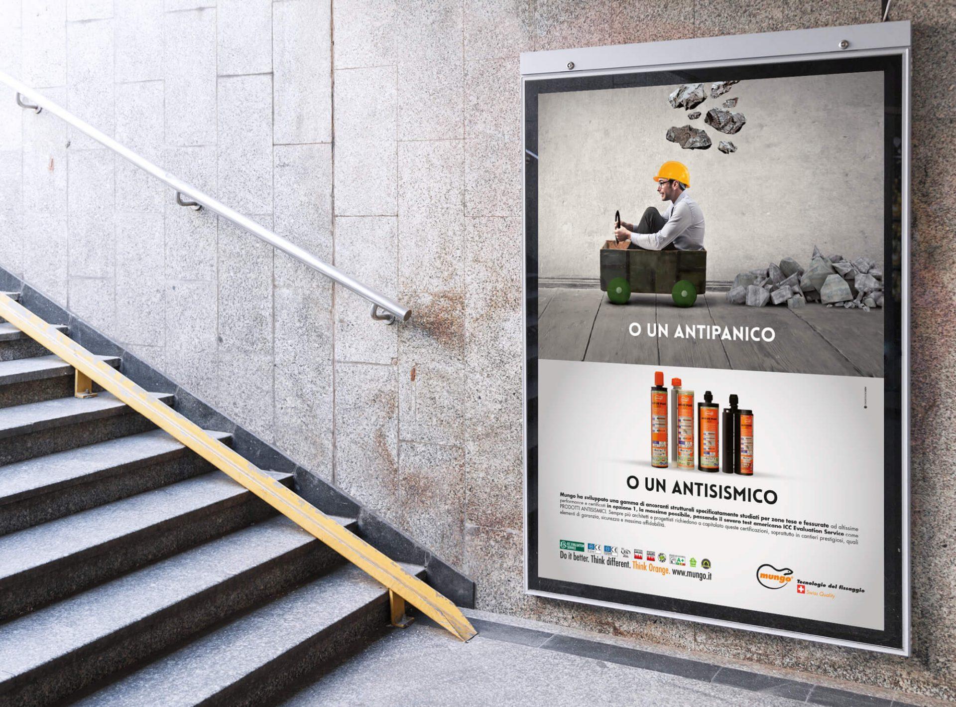 dettaglio campagna affissioni mungo italia, curata dalla agenzia di comunicazione diade studio arco di trento