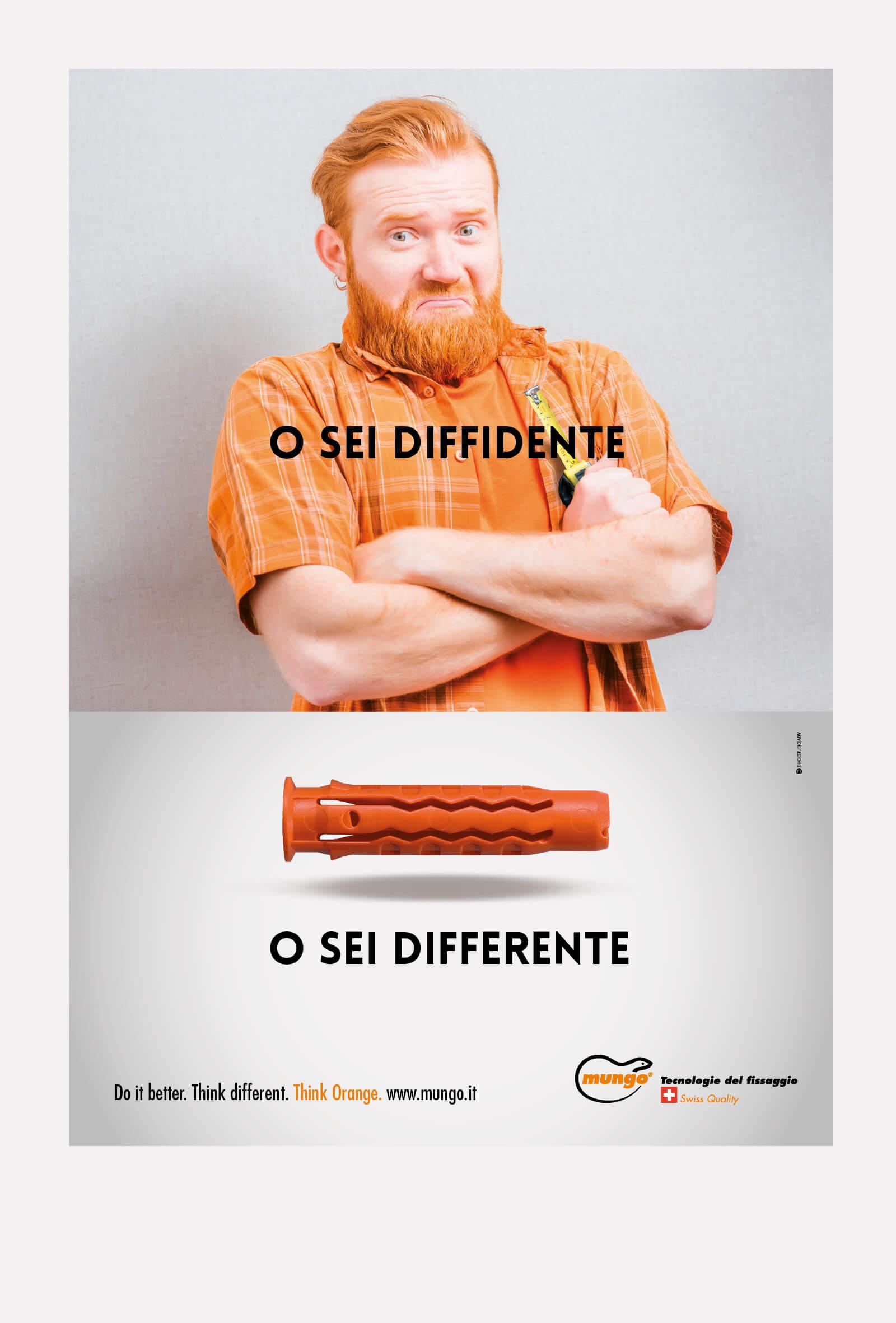 annuncio stampa campagna stampa mungo italia, diadestudio arco di trento