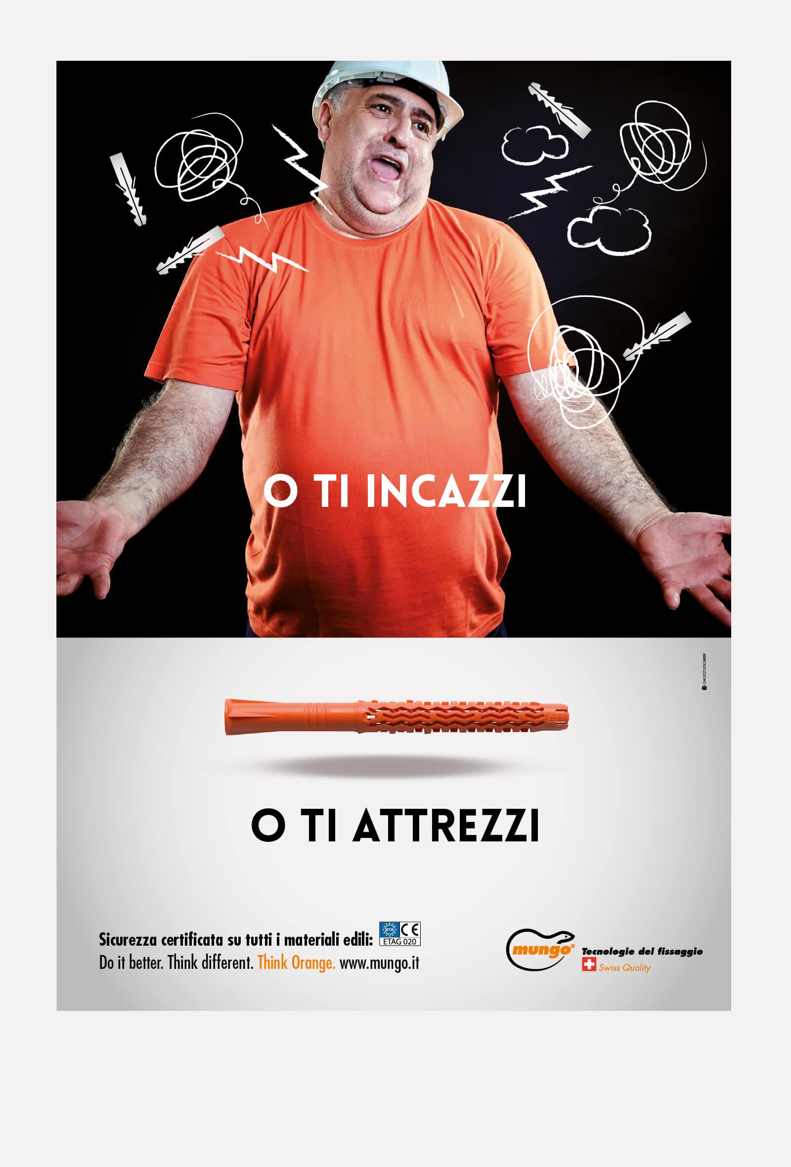 advertising per la campagna stampa mungo italia, diadestudio arco di trento