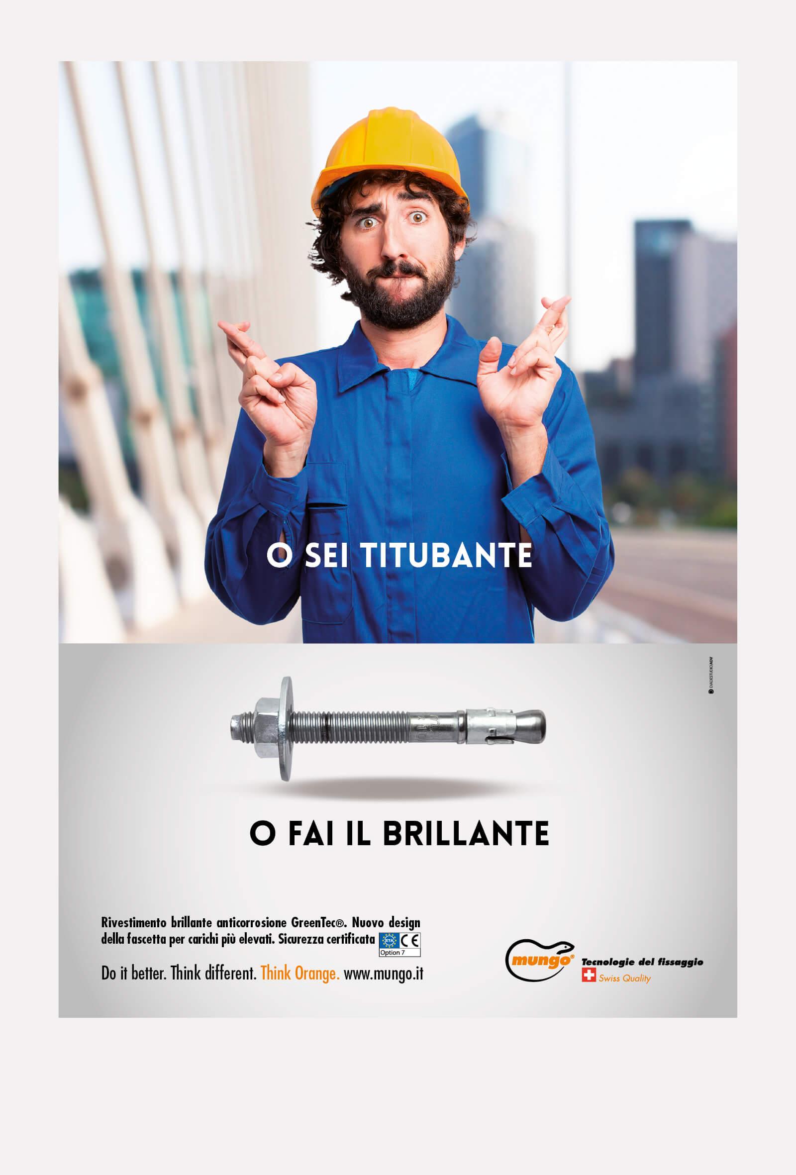 campagna stampa e affissioni mungo italia, curata dalla agenzia diade studio arco di trento
