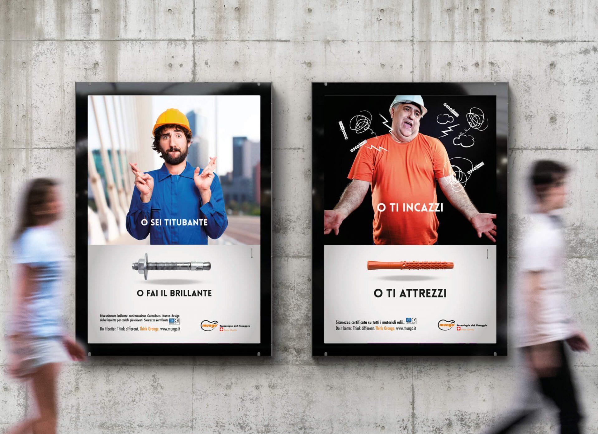 dettaglio affissioni campagna stampa mungo italia, curata dalla agenzia di comunicazione diade studio arco di trento