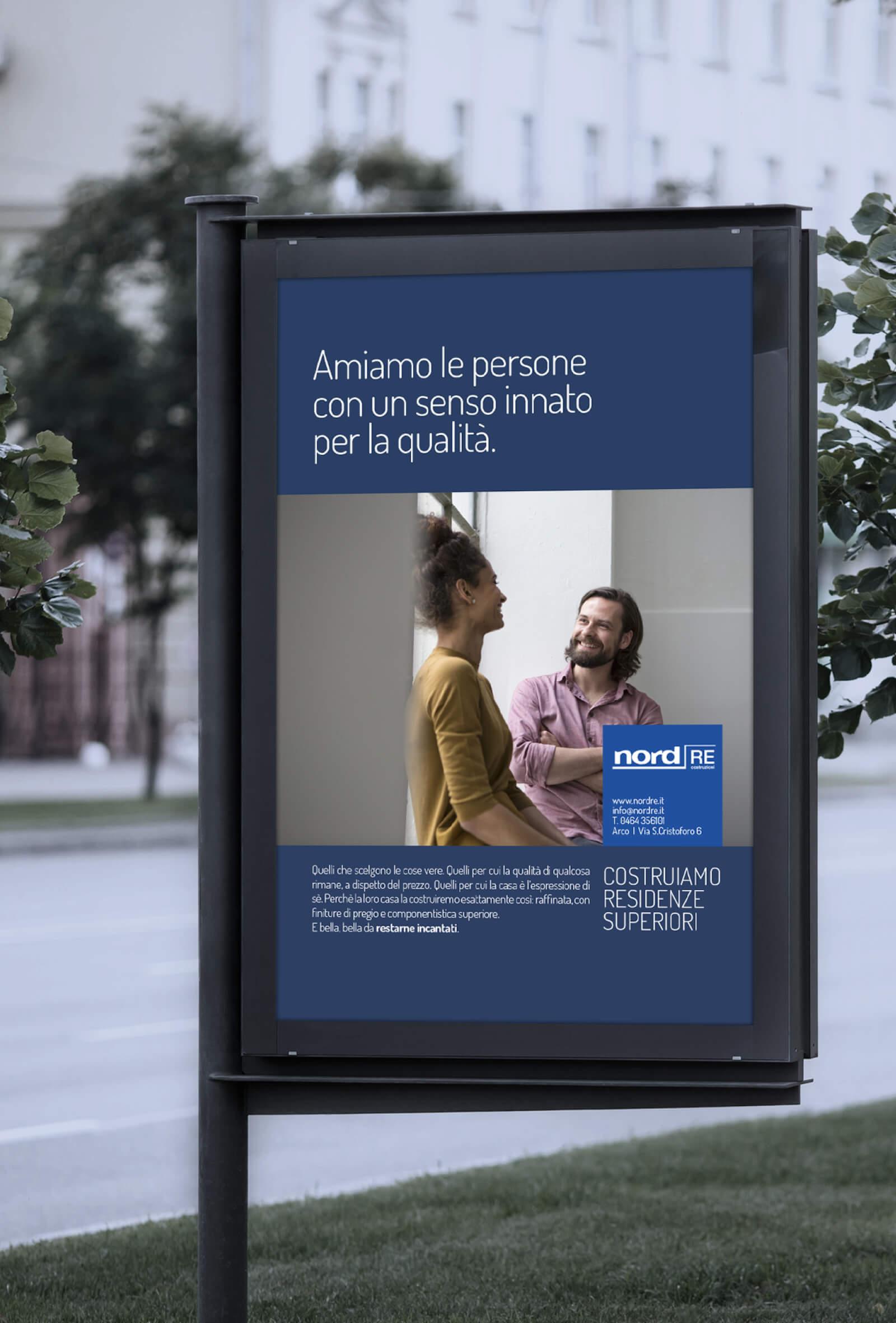 creazione di headline e visual per manifesto stradale pubblicitario. Campagna stampa ideata da diadestudio agenzia di pubblicità arco di trento
