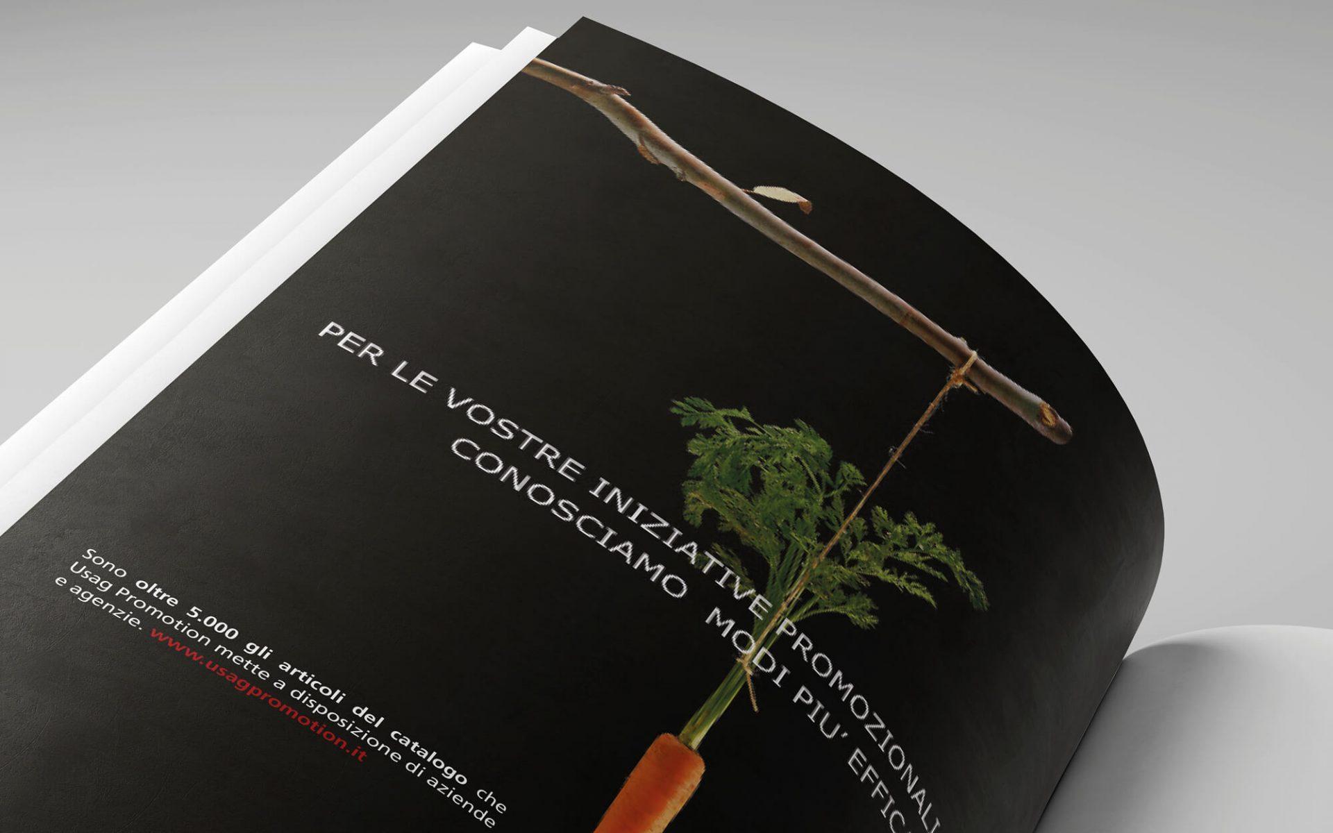 campagna stampa usag italia per la promozione dei servizi, dettaglio pagina annuncio creato dallo studio di comunicazione diadestudio arco trento