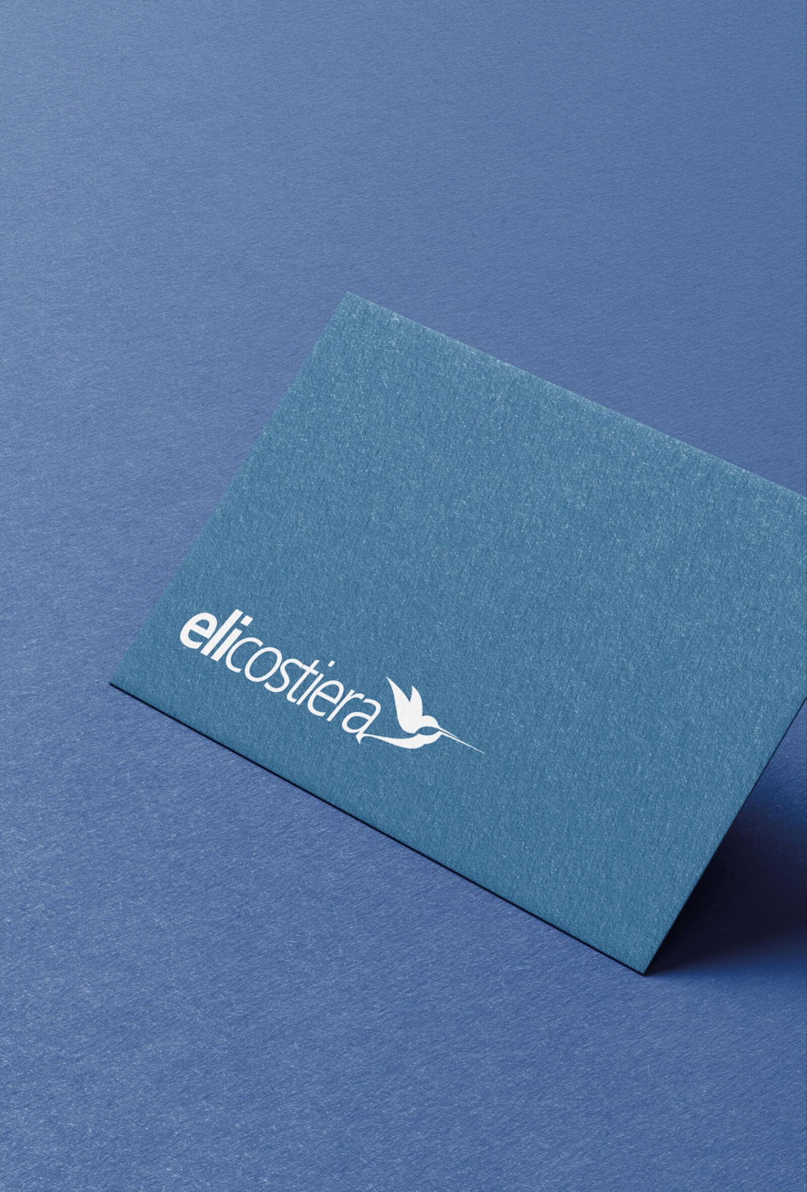 studio del marchio e della immagine coordinata elicostiera, progettato dalla agenzia grafica diadestudio di arco trento