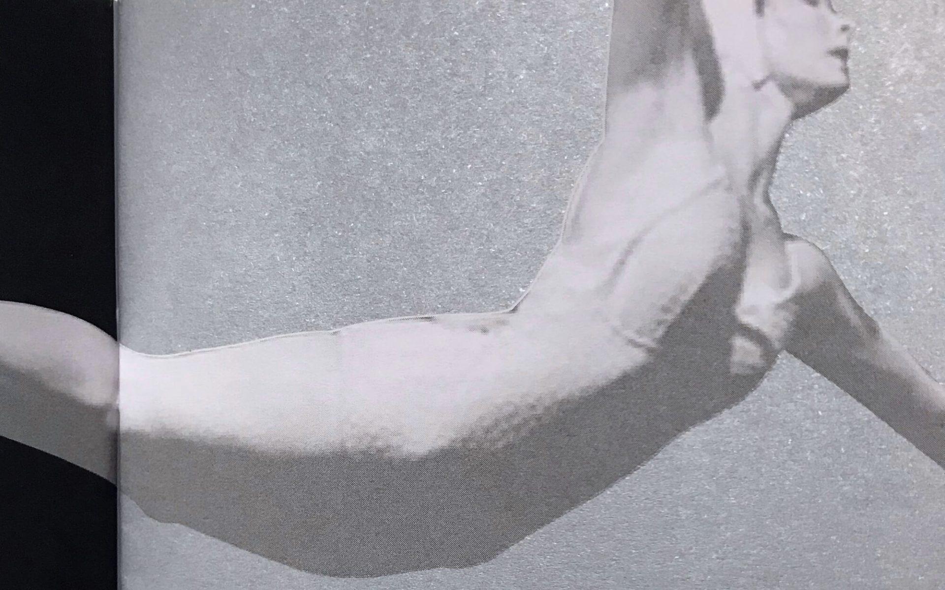 dettaglio della brochure stampata su carta argento, realizzata per garda jazz festival, e progettata dalla agenzia di comunicazione diadestudio arco di trento
