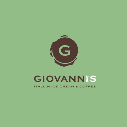 logotipo giovannis in colore verde e marrone progettato dalla agenzia di comunicazione diadestudio di arco trento