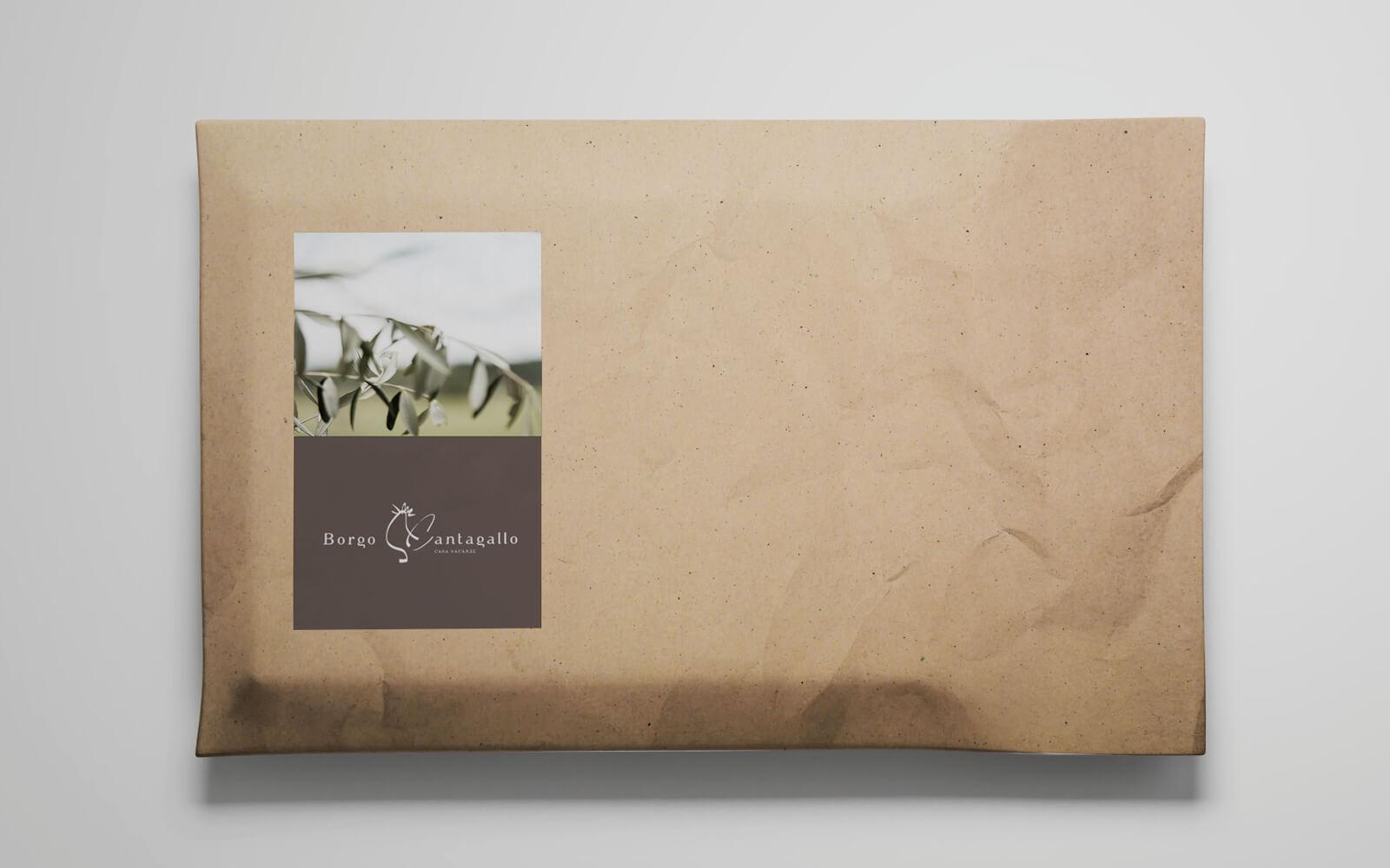 dettaglio etichette chiudipacco progettate da diadestudio per borgo cantagallo b&b