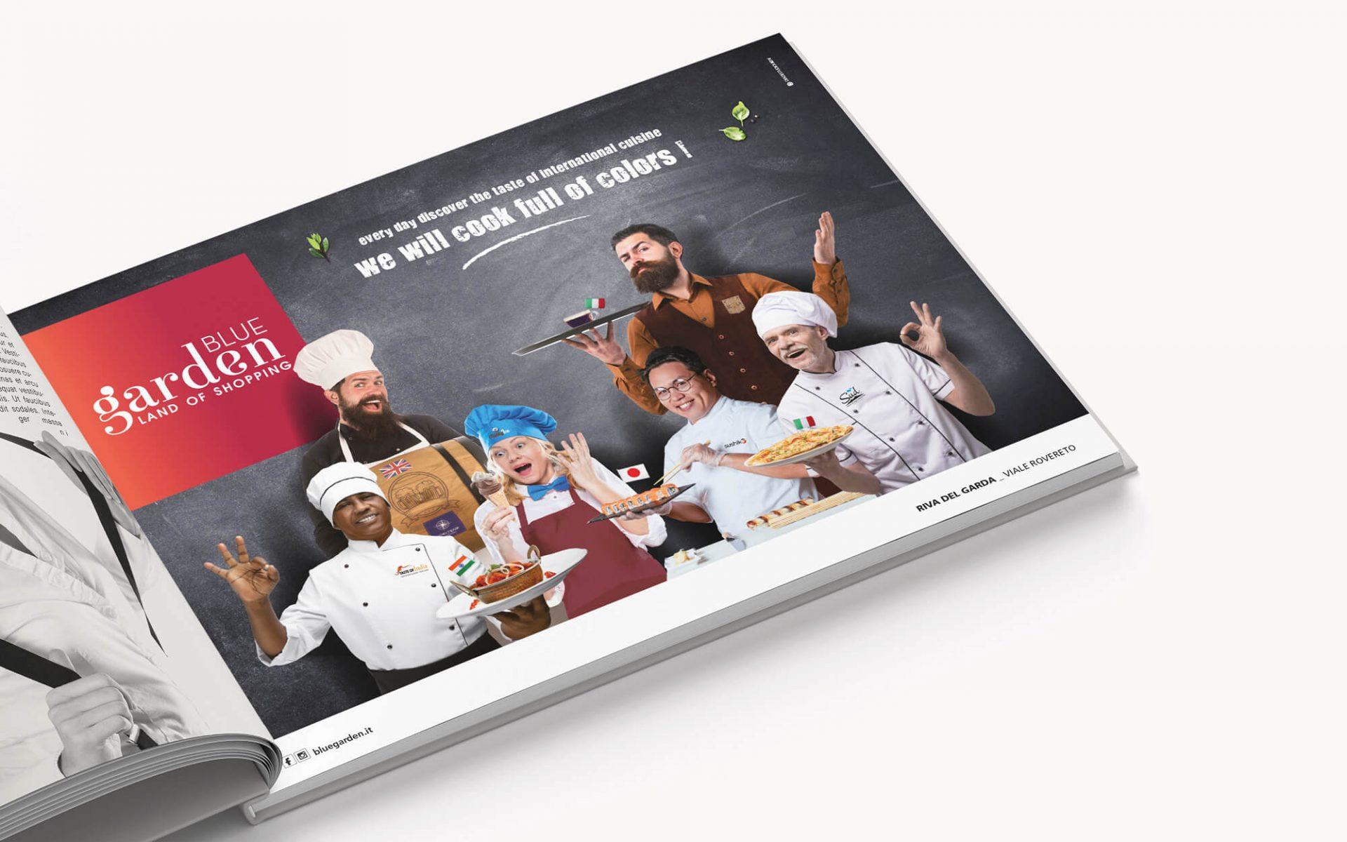 advertising per promuovere la ristorazione creata dalla agenzia di comunicazione diadestudio di arco di trento