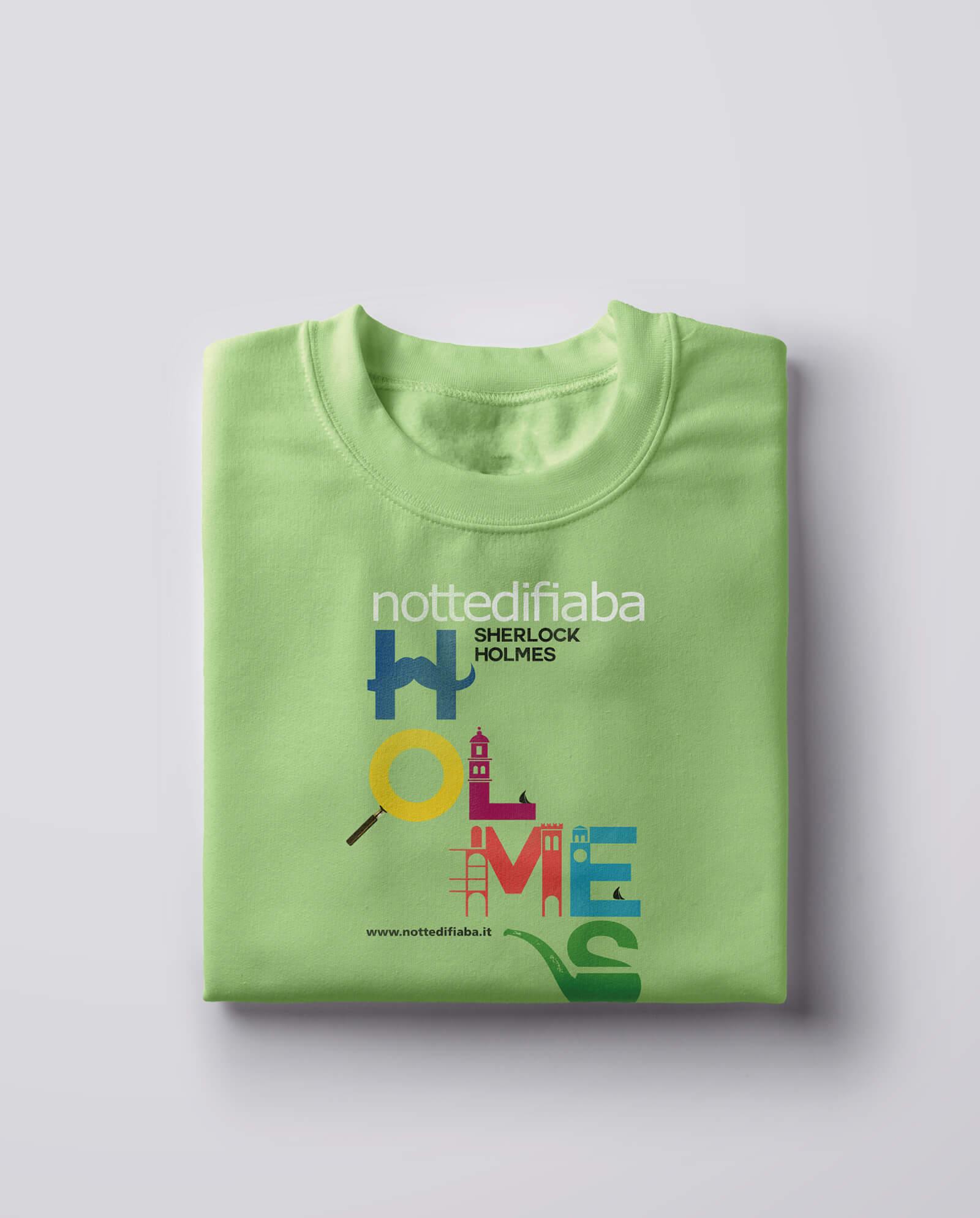 tshirt in cotone colorato, illustrate con motivi geometrici, create per notte di fiaba dallo studio grafico diade di arco trento