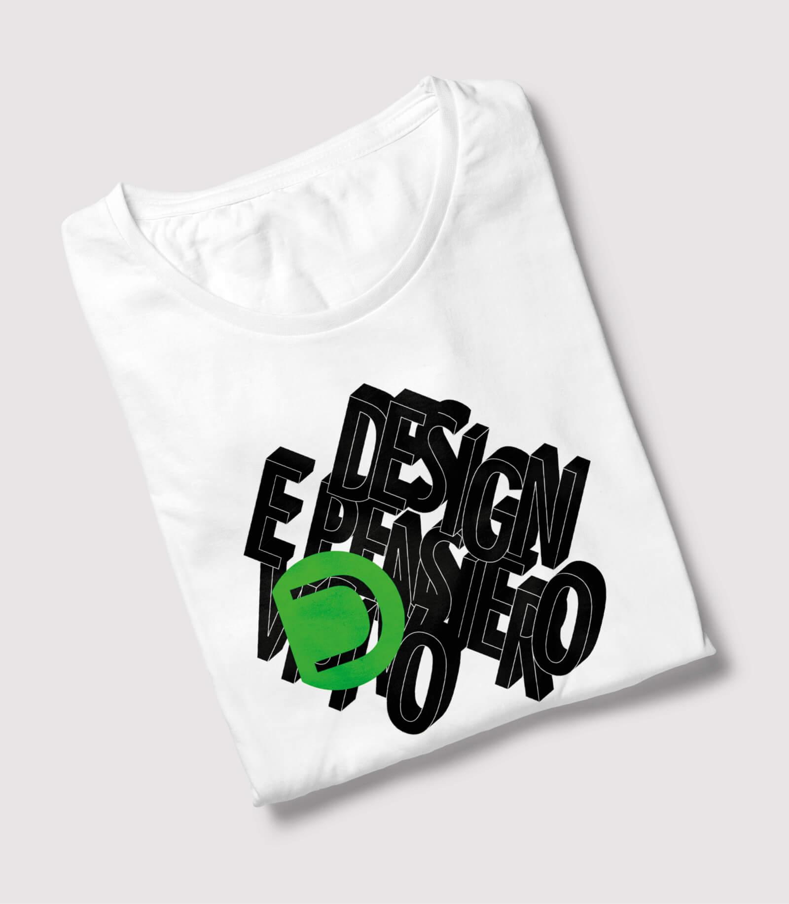 maglietta brandizzata con i colori aziendali progettata dallo studio grafico diade di arco di trento