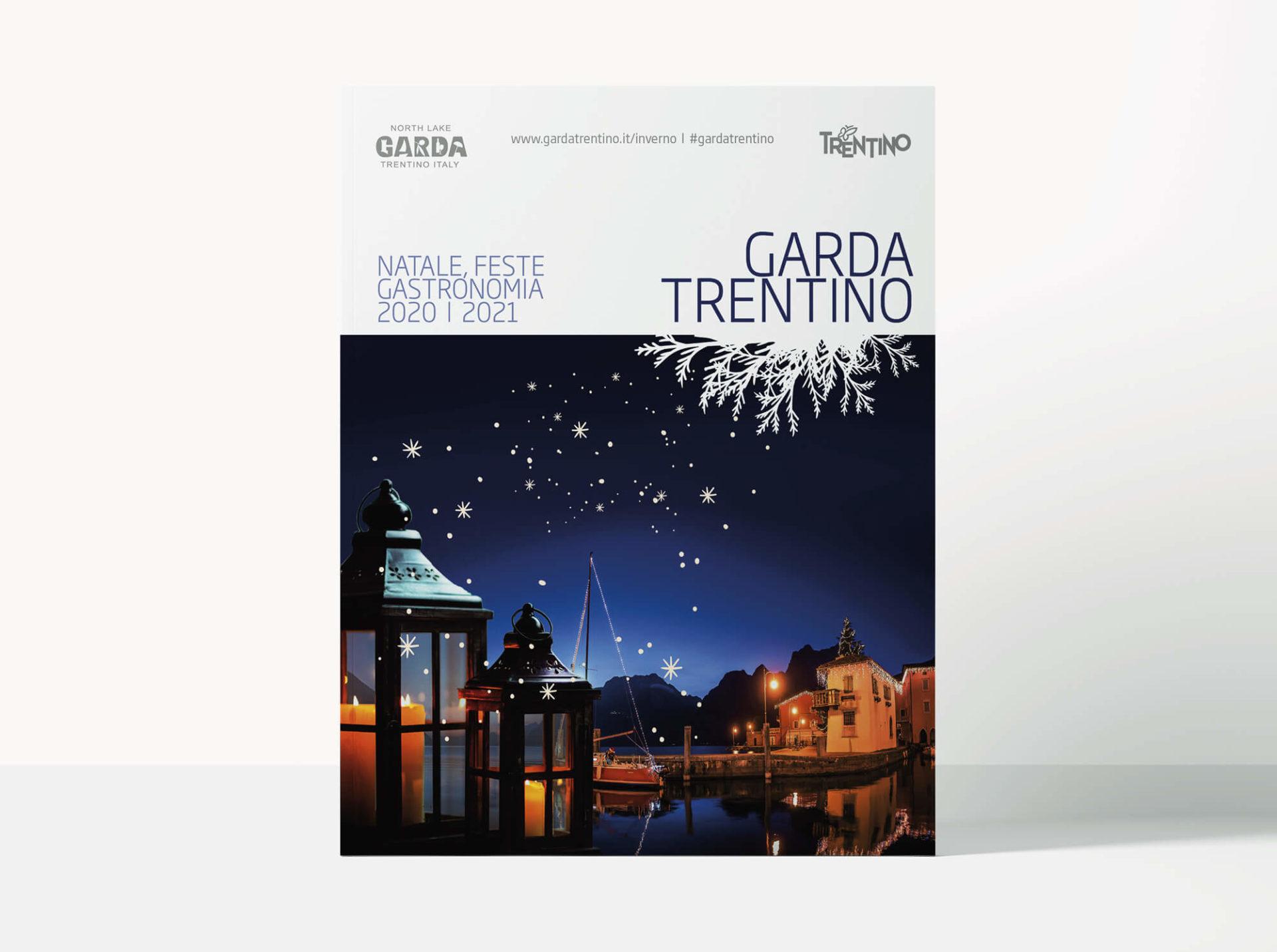 cover eventi di natale della brochure promozionale gardatrentino, progetto grafico diadestudio arco di trento