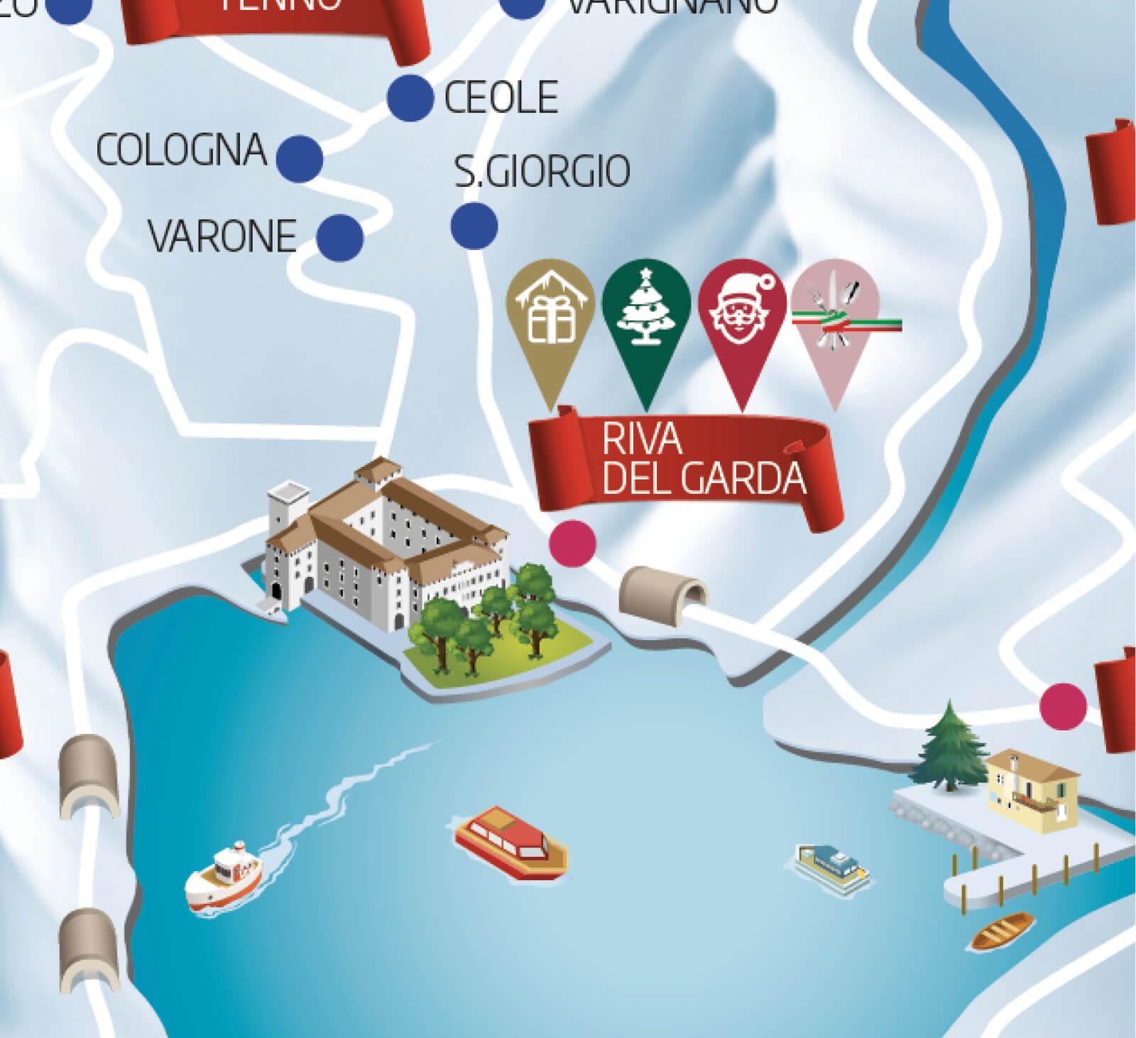 dettaglio illustrazione per mappa, diadestdio agenzia di comunicazione arco di trento