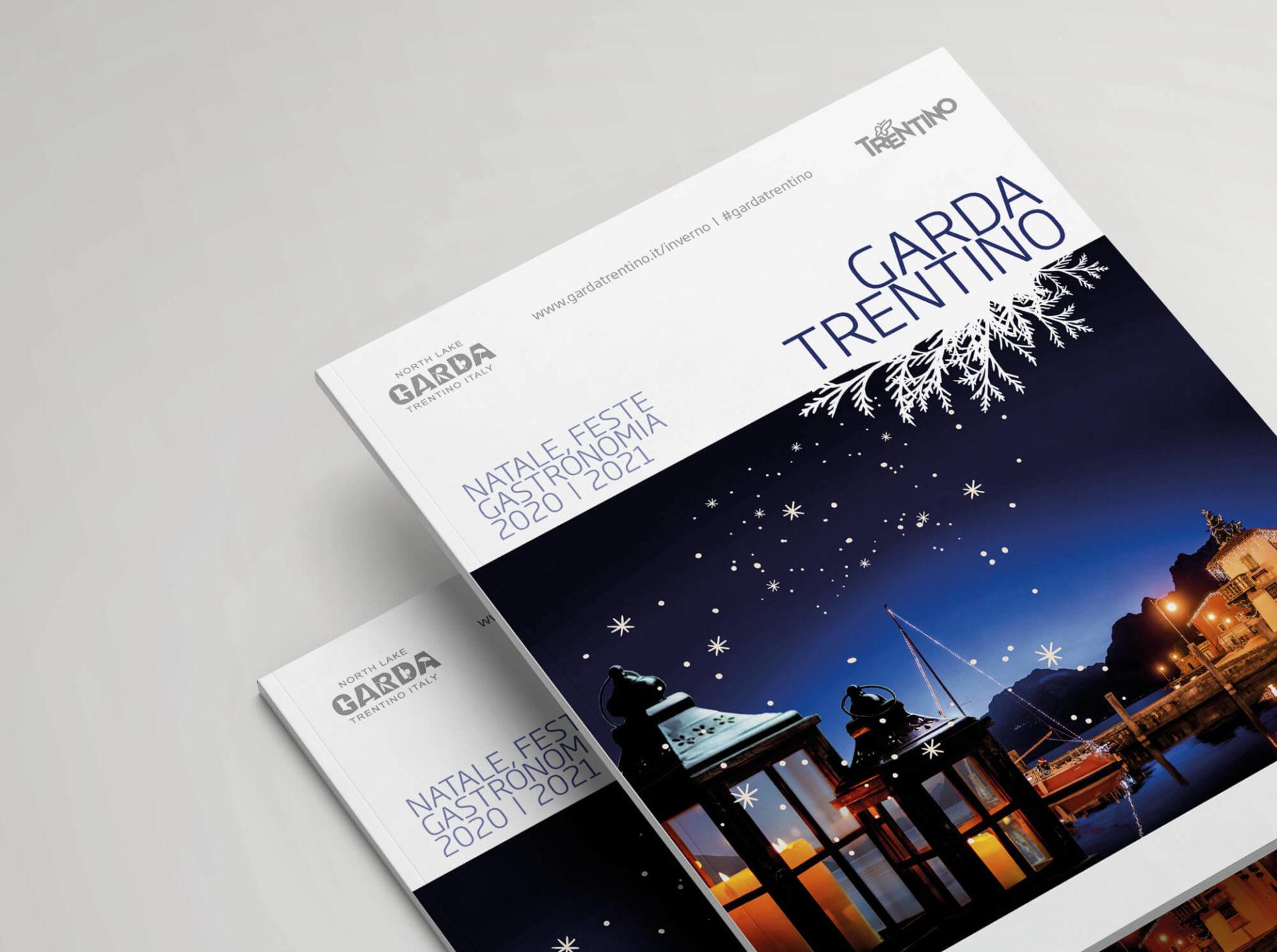 dettaglio copertina eventi di natale della brochure promozionale garda trentino, progetto grafico diadestudio arco di trento