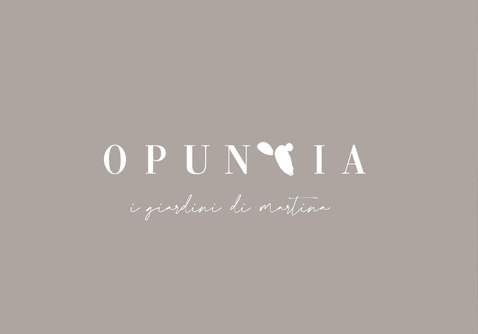 studio grafico per il logo Opuntia, i giardini di Martina, Diadestudio